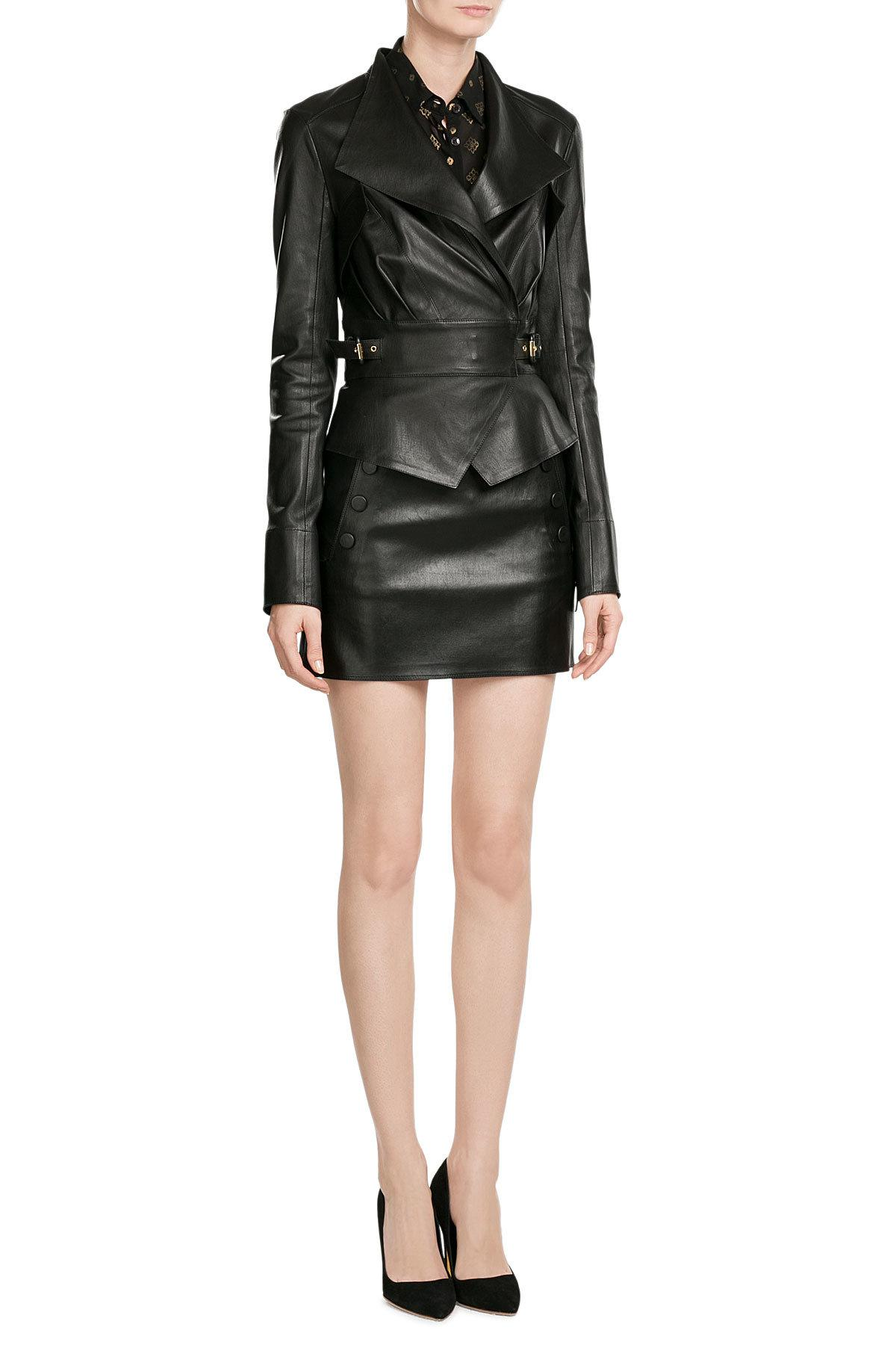 Lyst Jitrois Leather Mini Skirt In Black