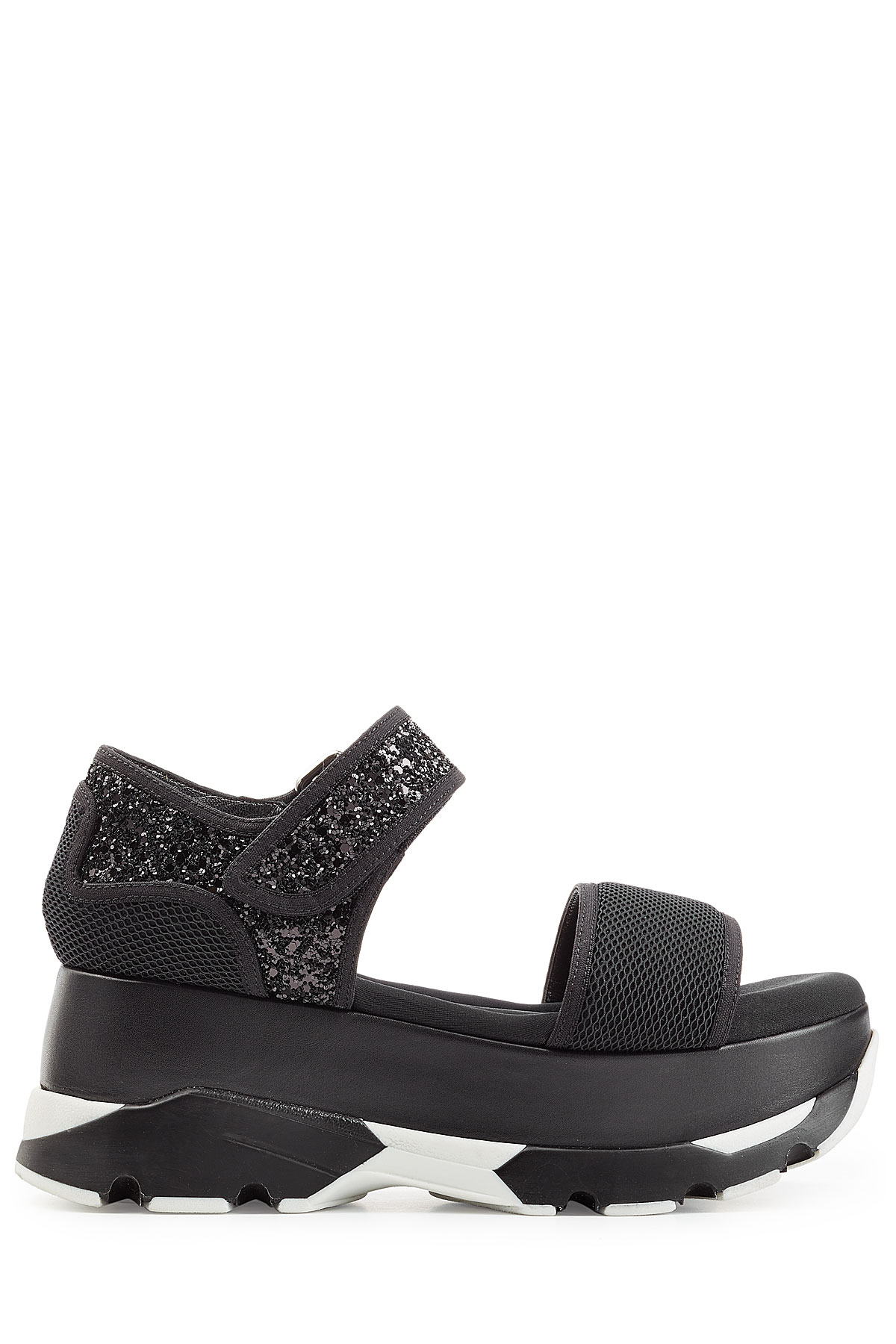 Lyst Marni Platform Sandals With Leather Mesh And