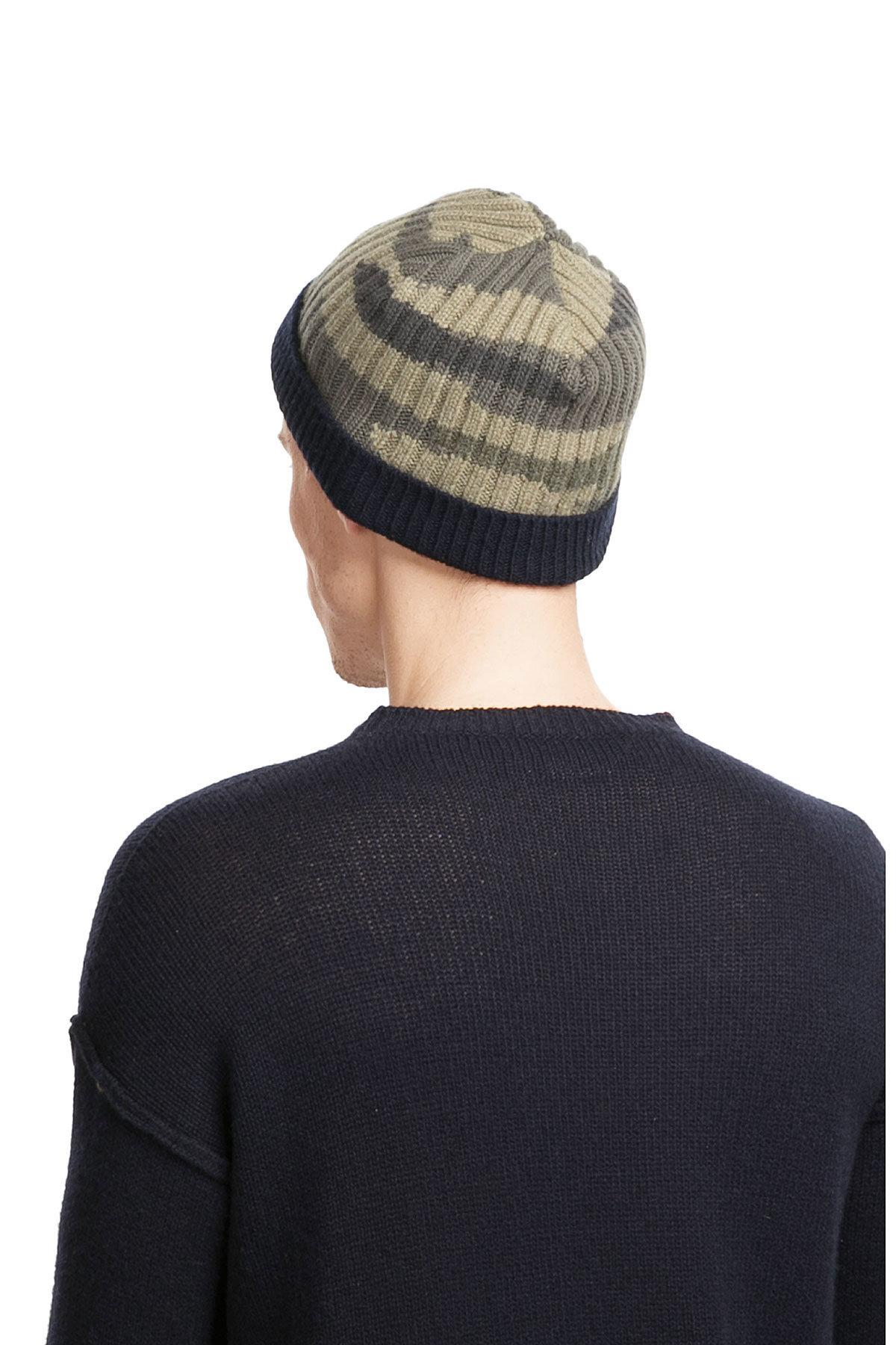 Lyst - Valentino Wool-cashmere Camouflage Hat in Green for Men 4da6ad51c71a