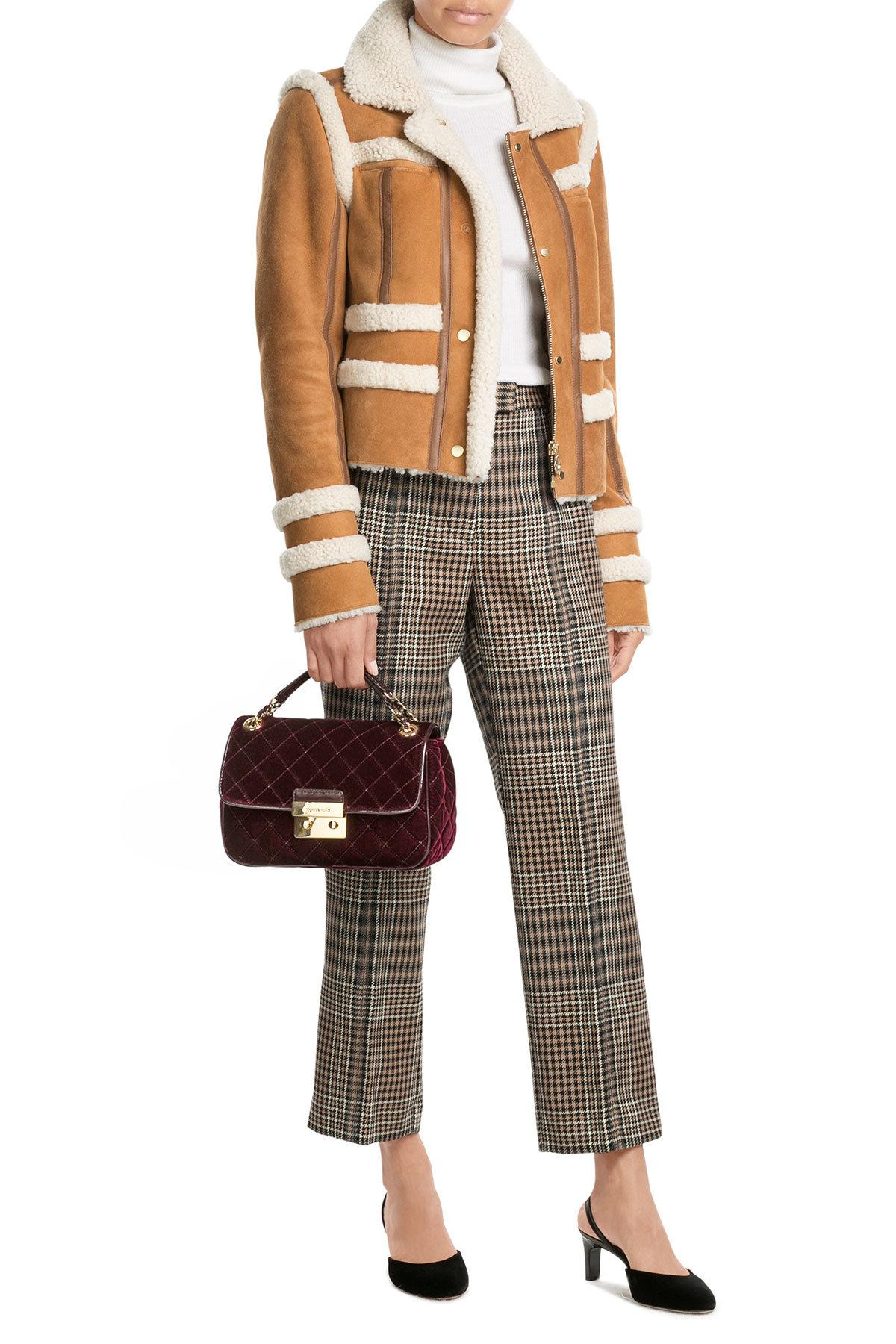 carven sheepskin jacket with shearling in multicolor lyst