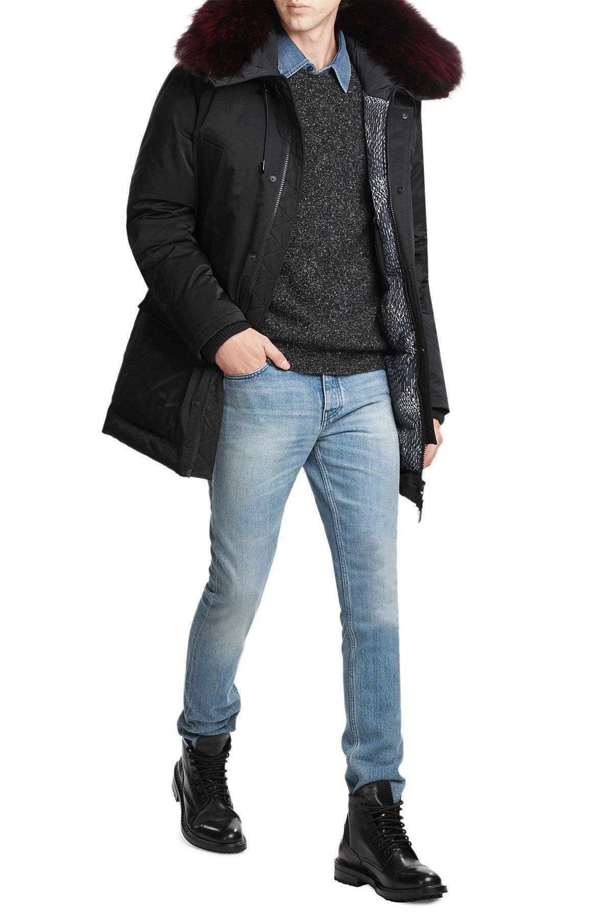 ff49bf5a KENZO Black Parka With Raccoon Fur Hood for men