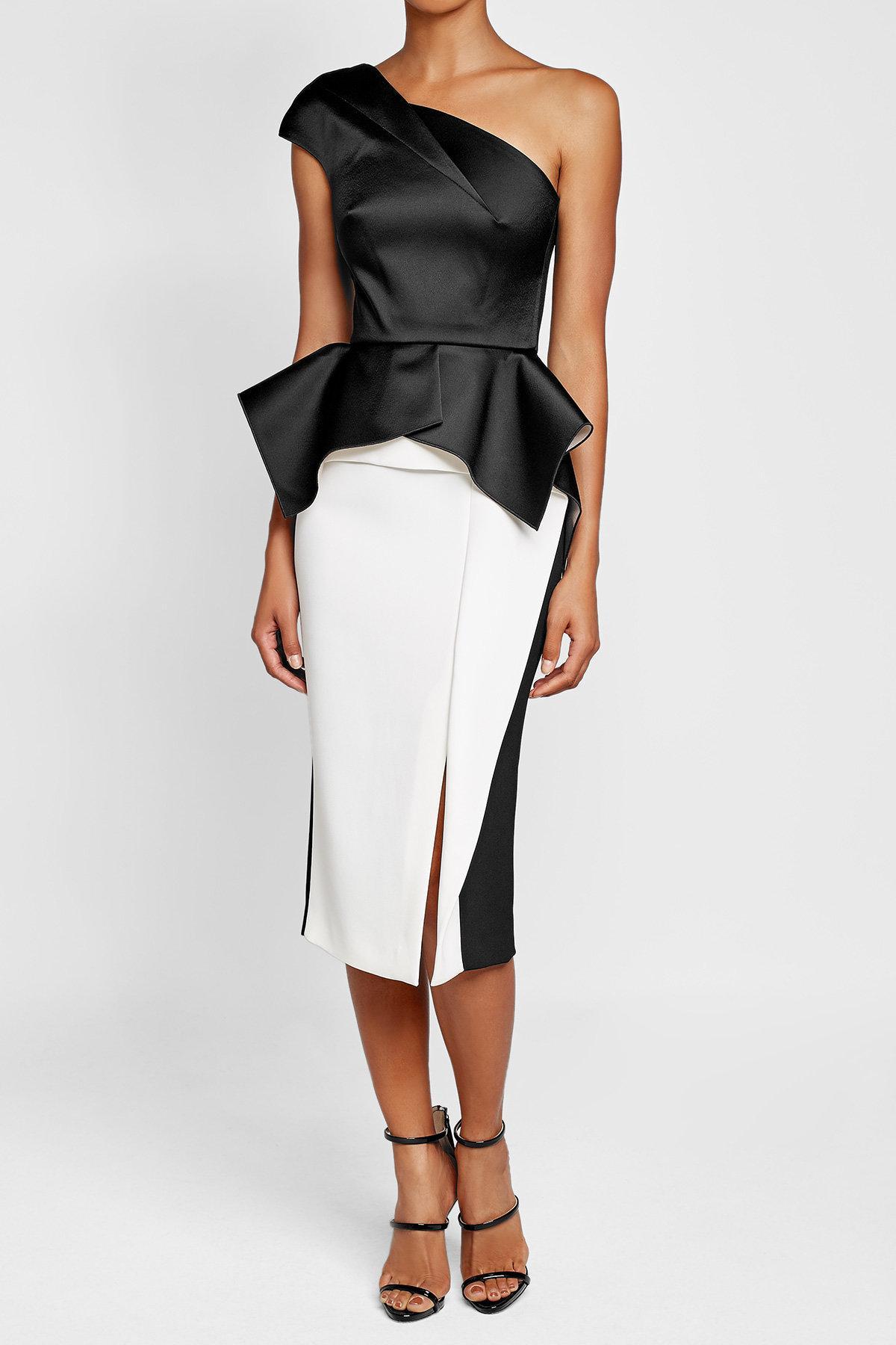 roland mouret pencil skirt in black lyst