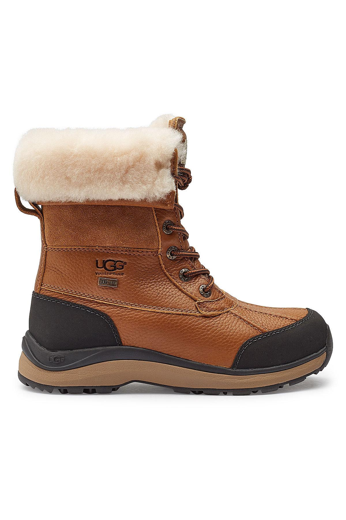 UGG Adirondack Ankle Boots With Suede, Leather And Shearling