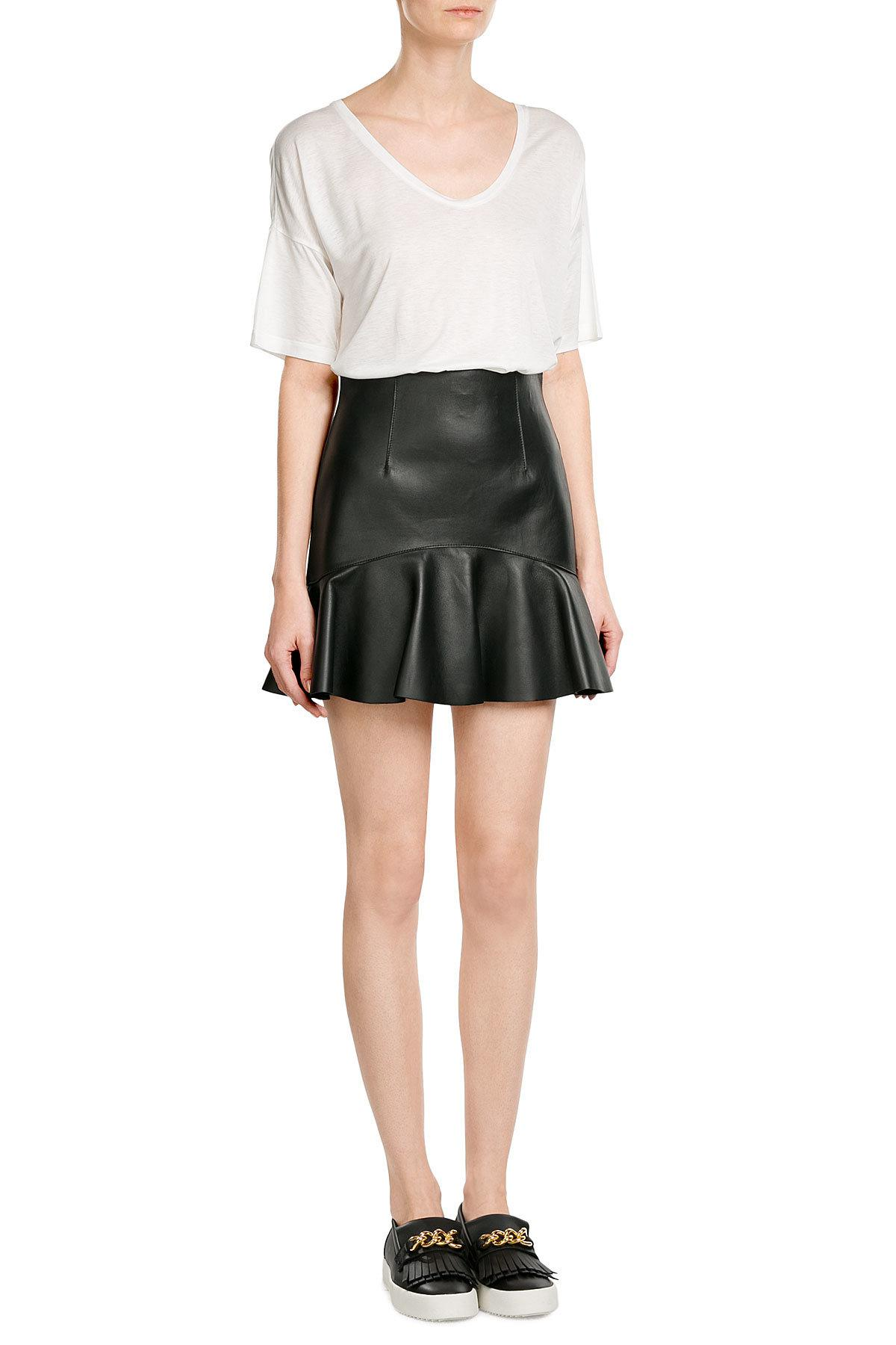 Lyst t by alexander wang jersey t shirt for T by alexander wang t shirt