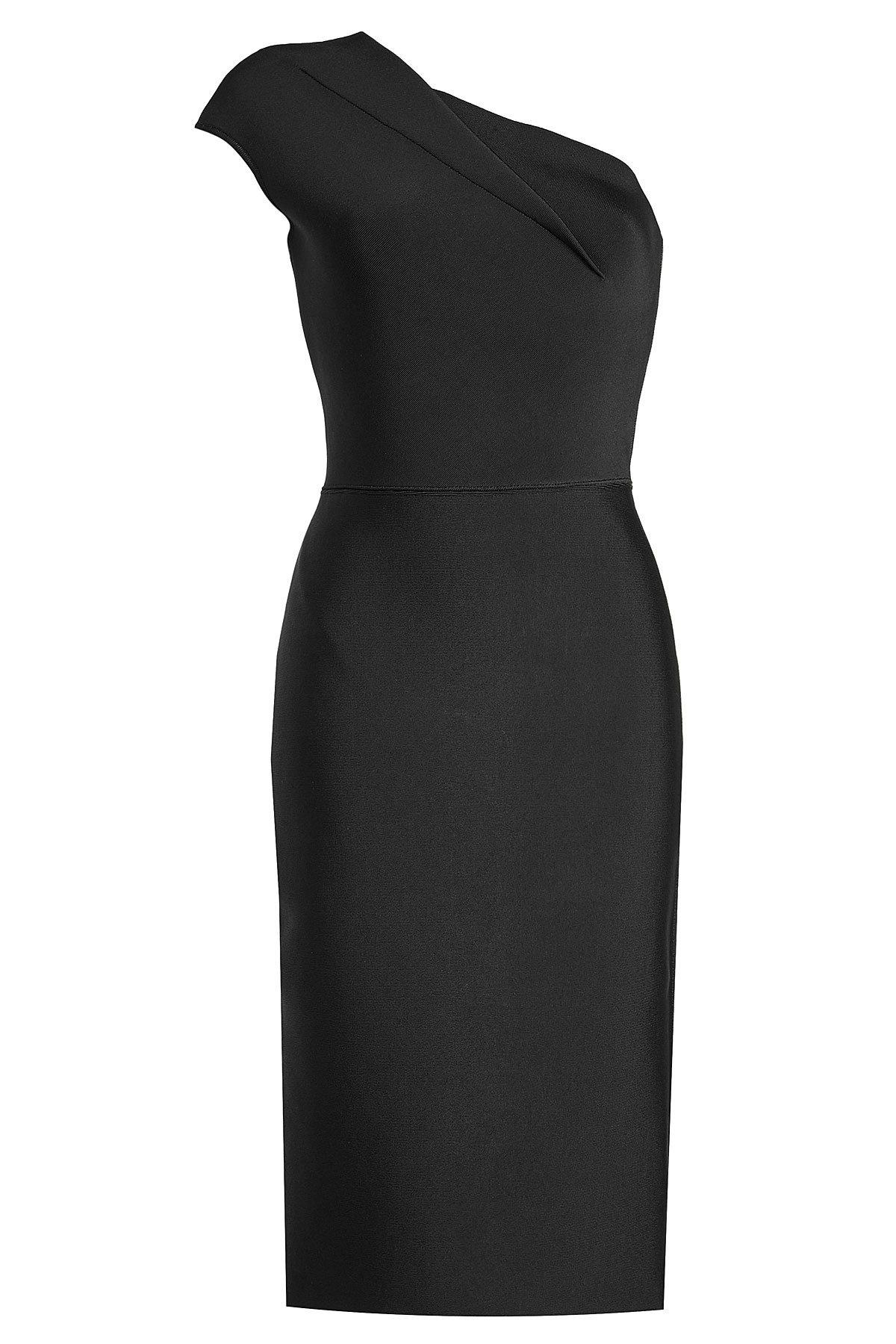 c48e7294d41 Lyst - Roland Mouret One-shoulder Dress in Black