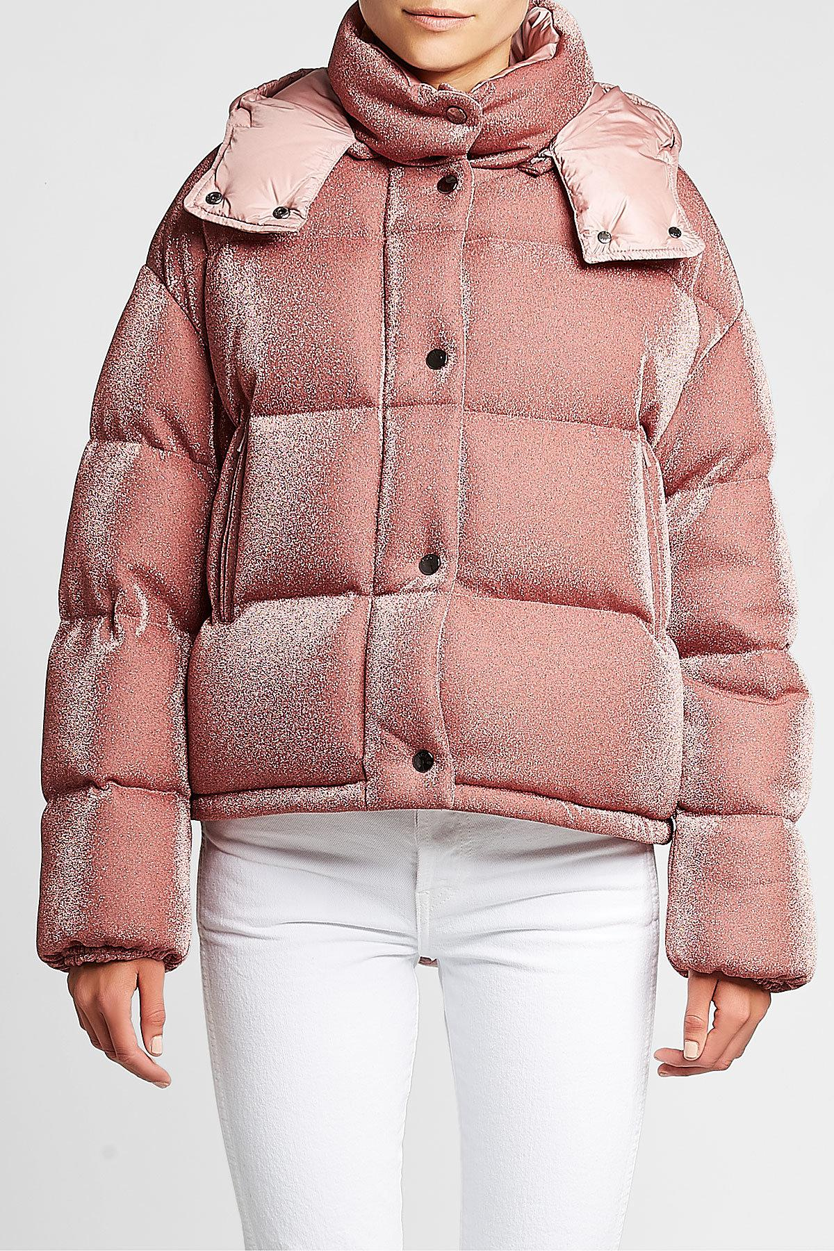 ce19cf68e Moncler Pink Caille Quilted Down Jacket With Hood