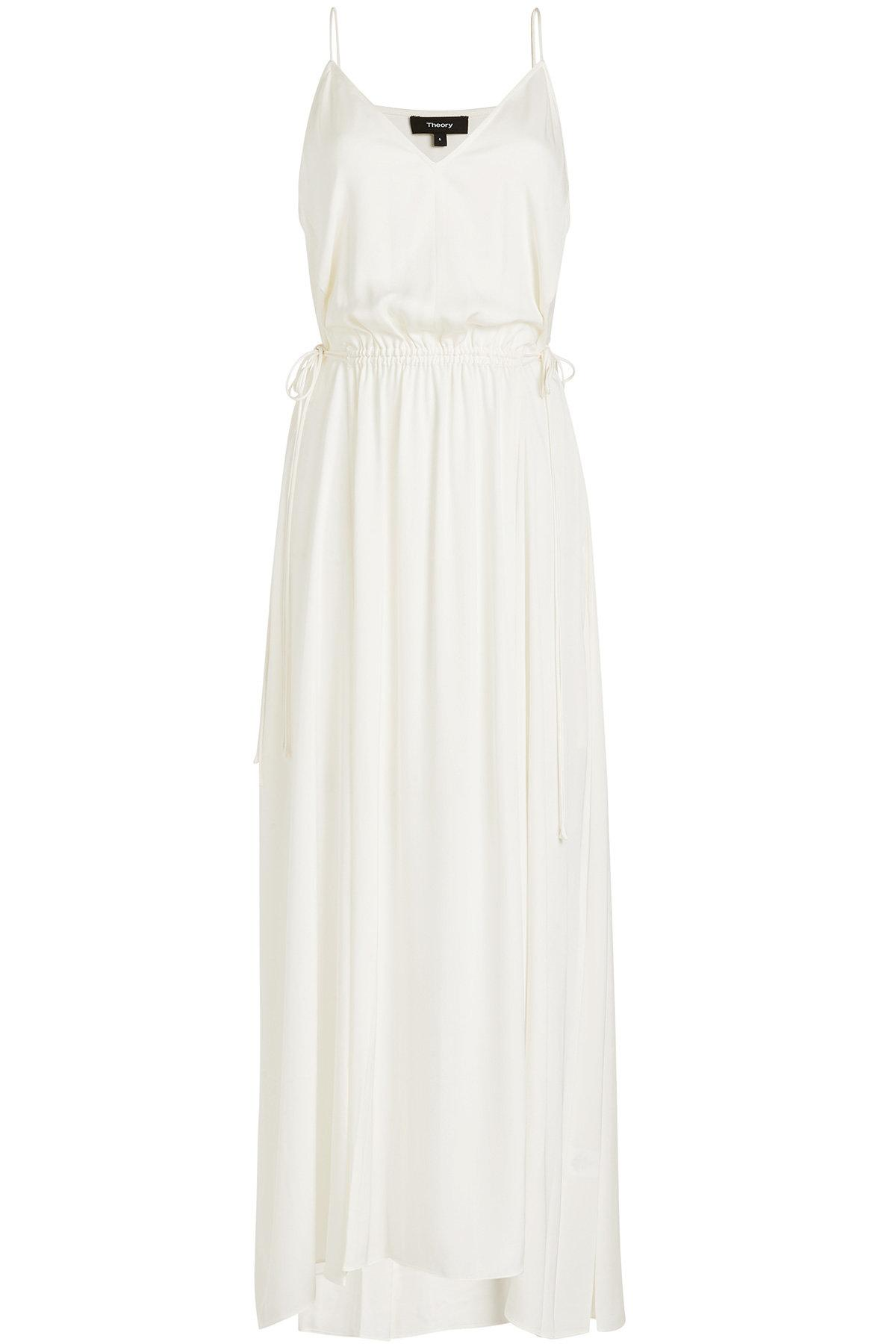 9aea32cd039 Theory - White Relaxed V-neck Maxi Dress - Lyst. View fullscreen