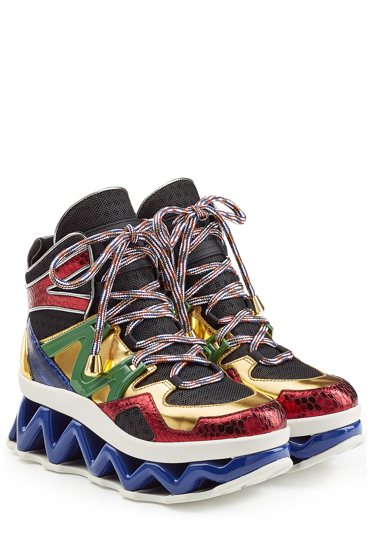 marc by marc jacobs leather and mesh ninja sneakers multicolor in multicolor lyst. Black Bedroom Furniture Sets. Home Design Ideas