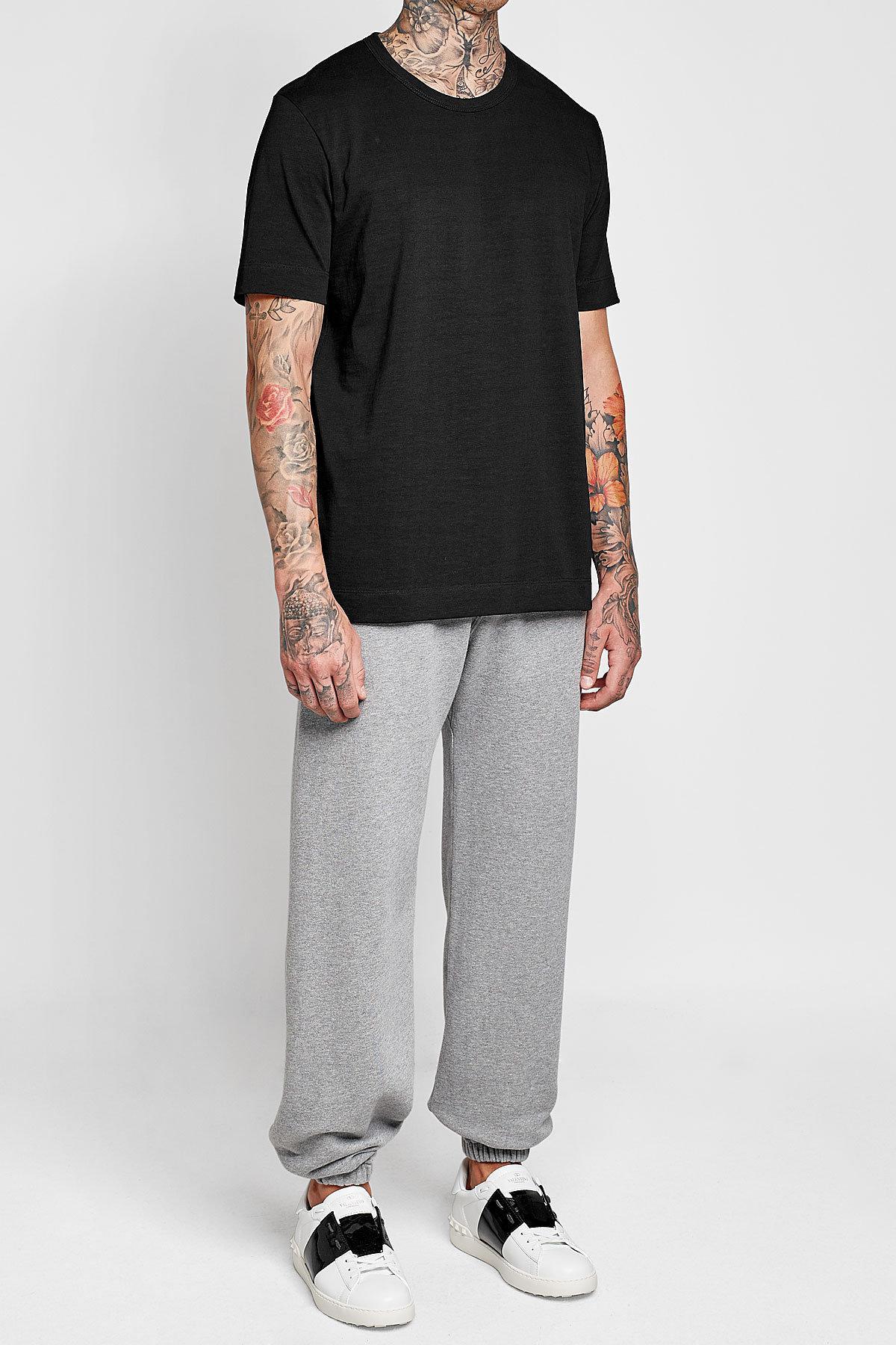 Jil sander cotton t shirt in black for men lyst for Jil sander mens shirt