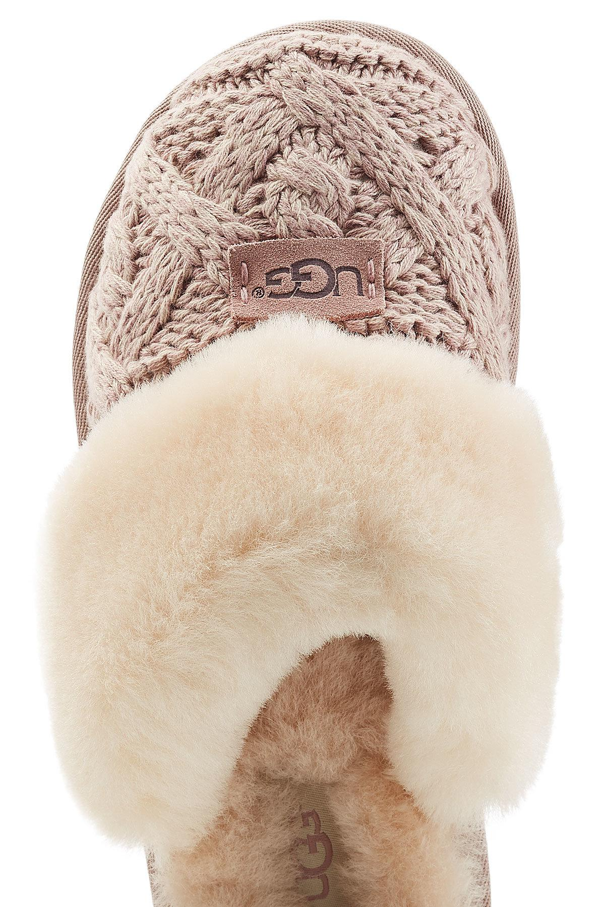Ugg Knit Slippers With Sheepskin Lyst