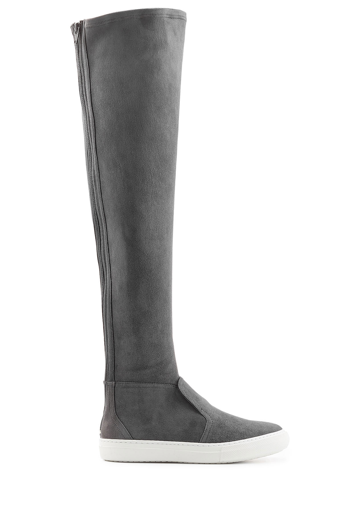 Pierre hardy Suede Over The Knee Boots in Grey