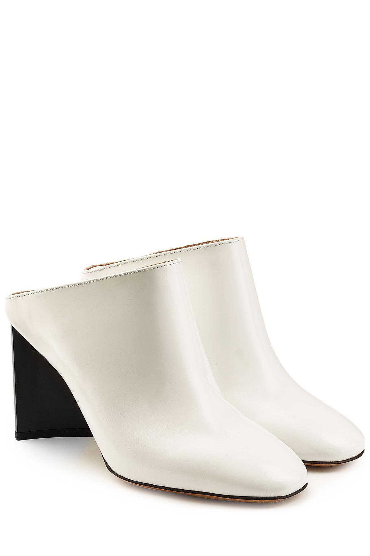 Womens Angled-Heel Leather Mules Maison Martin Margiela 35TAOMeHA5