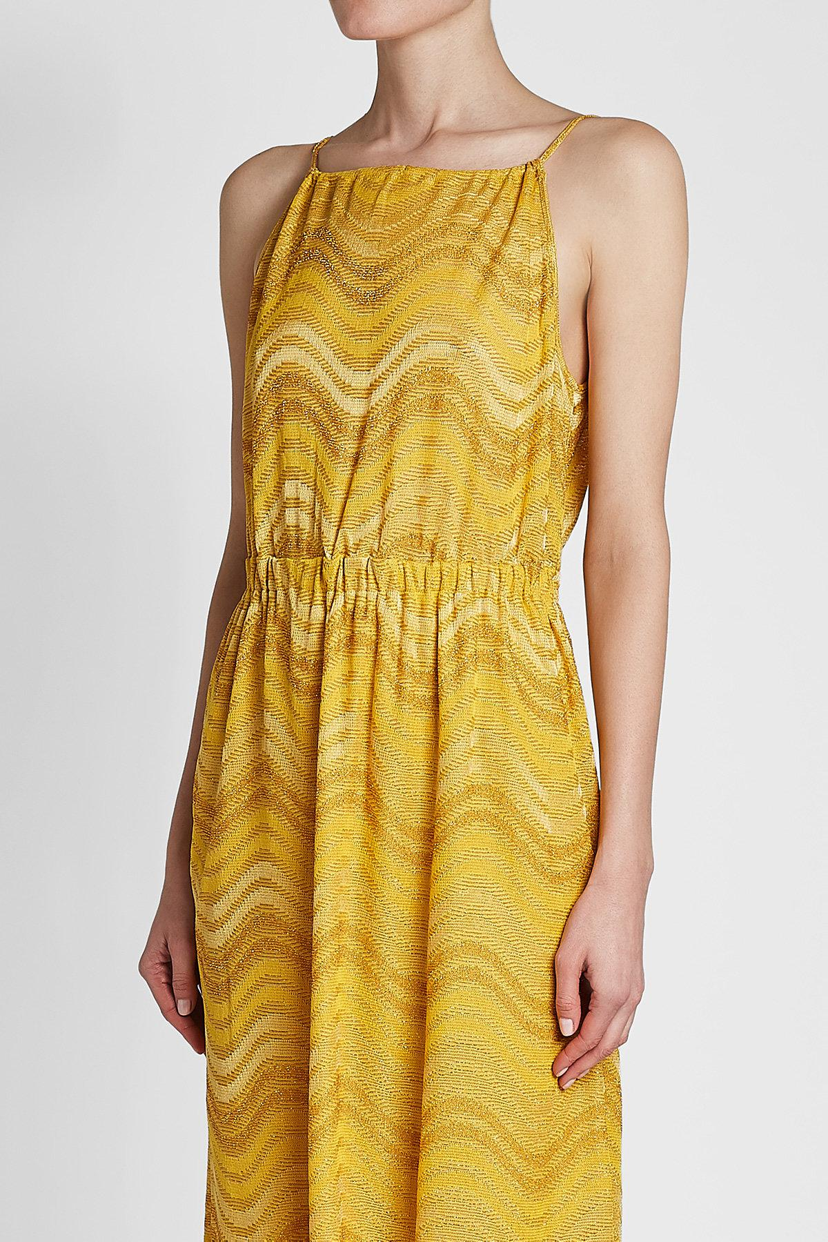 894a95f52b5b Lyst - M Missoni Knit Dress With Metallic Thread in Yellow