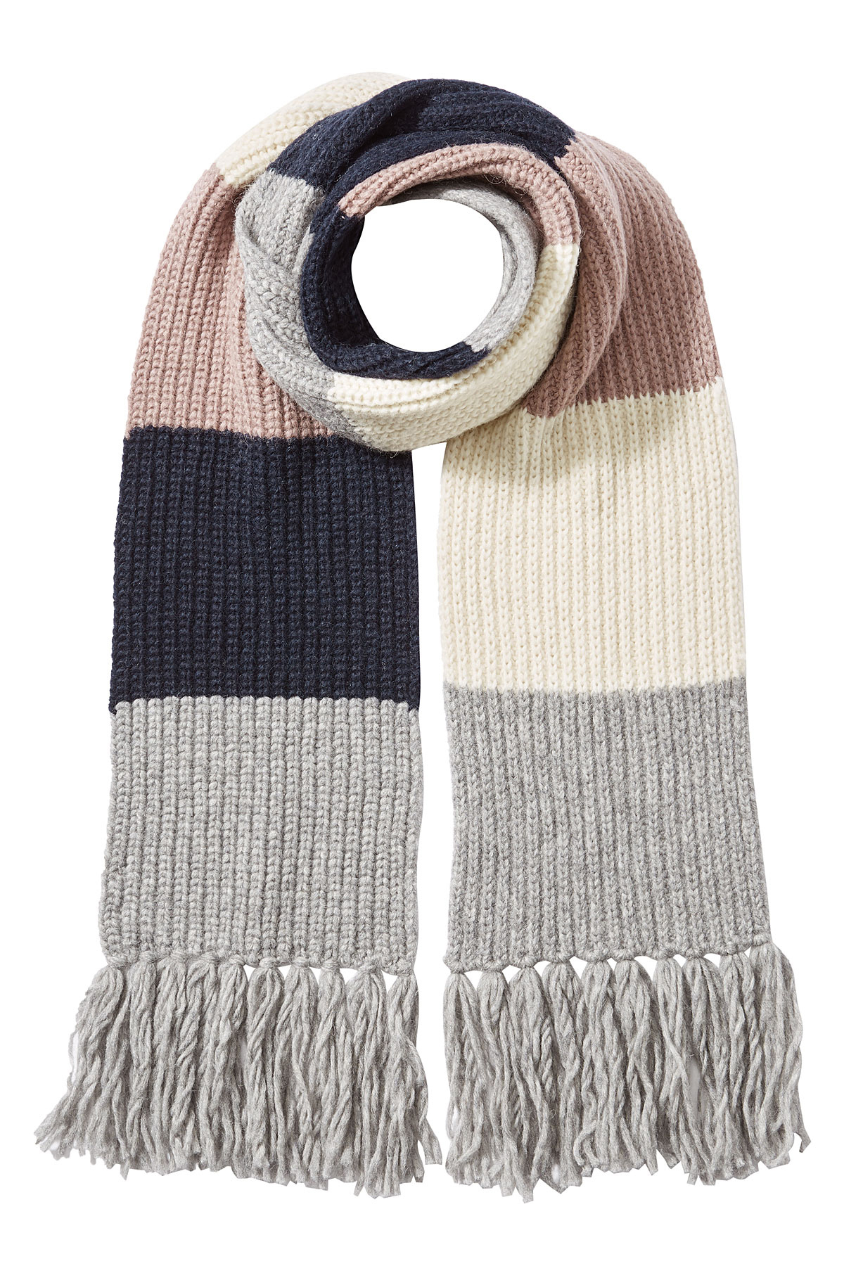 closed alpaca wool colorblock scarf multicolour in