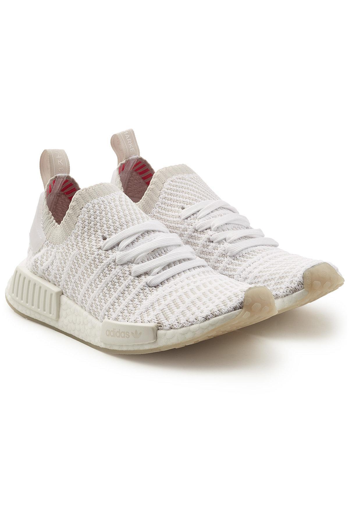 adidas Originals Nmd R1 Stlt Primeknit Sneakers in White Lyst