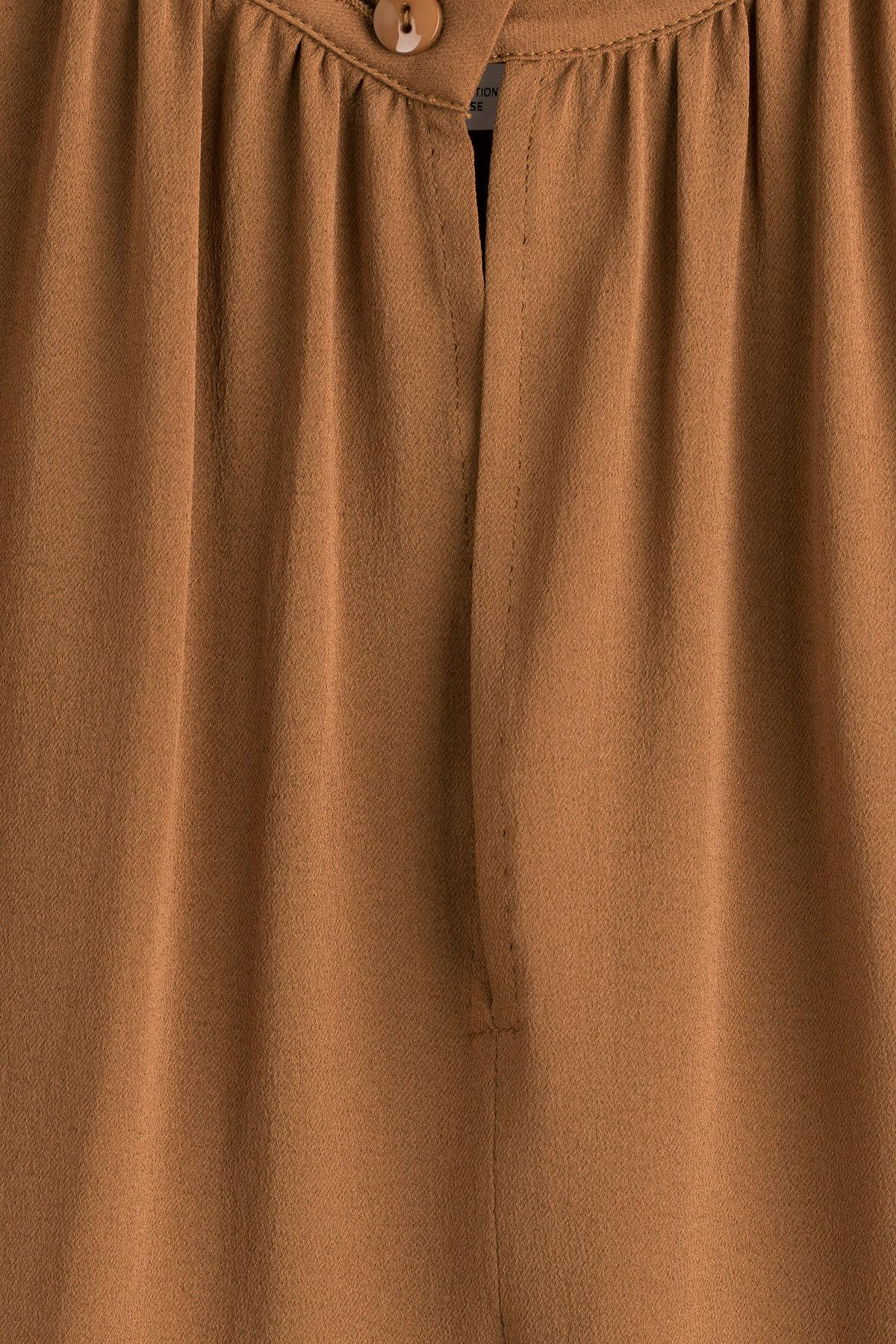 07c1dd6b004b43 Max Mara Silk Sabadel Blouse in Brown - Lyst
