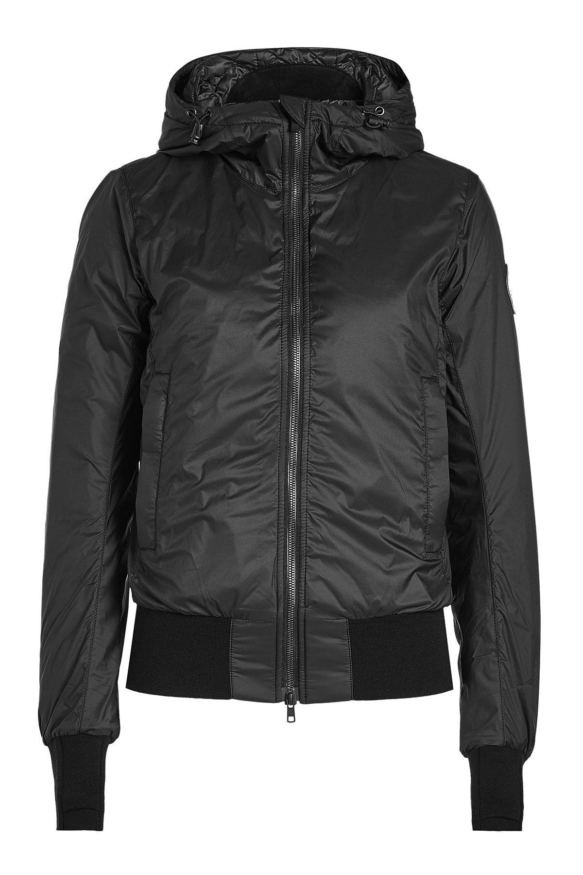 ccee53ed18bc ... good lyst canada goose dore down jacket with hood in black 8567a e5ab4  ...