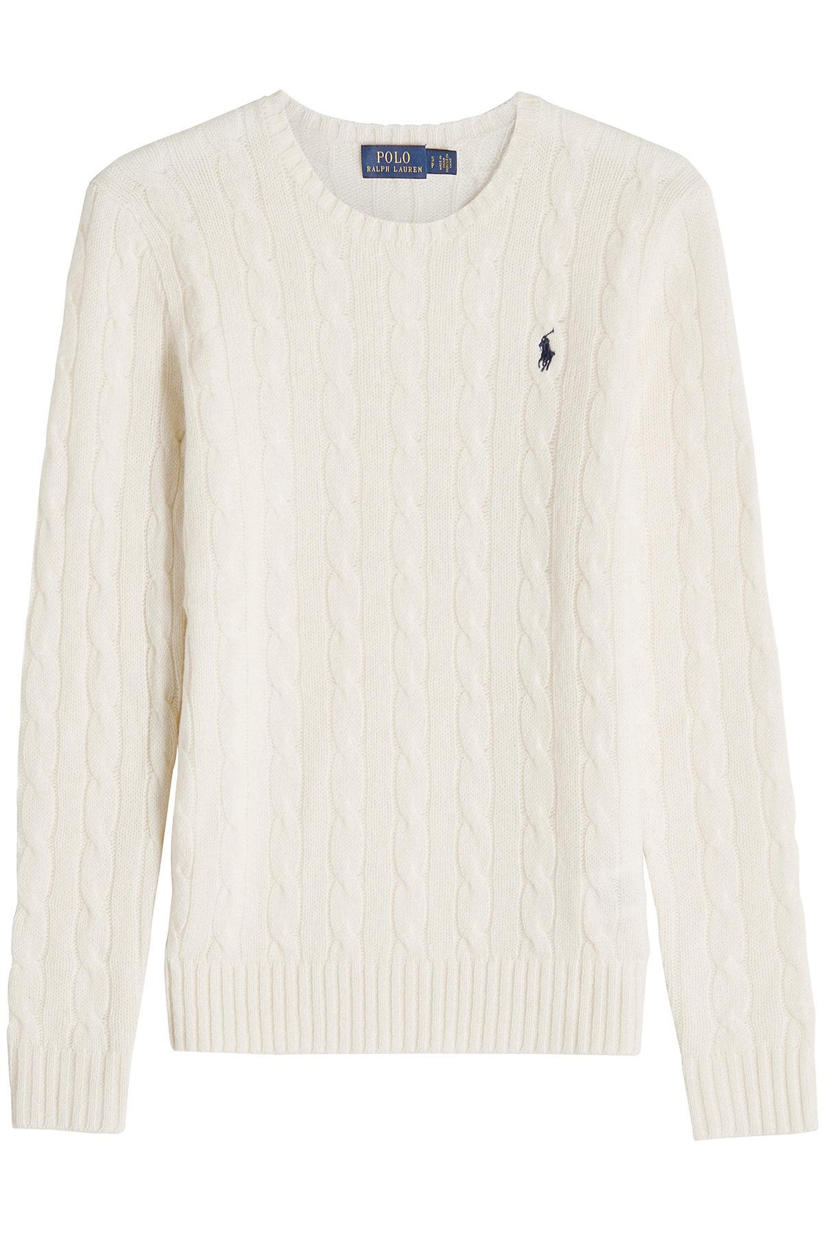 Lyst - Pull à col rond en laine et cachemire Polo Ralph Lauren 7055fd55a390