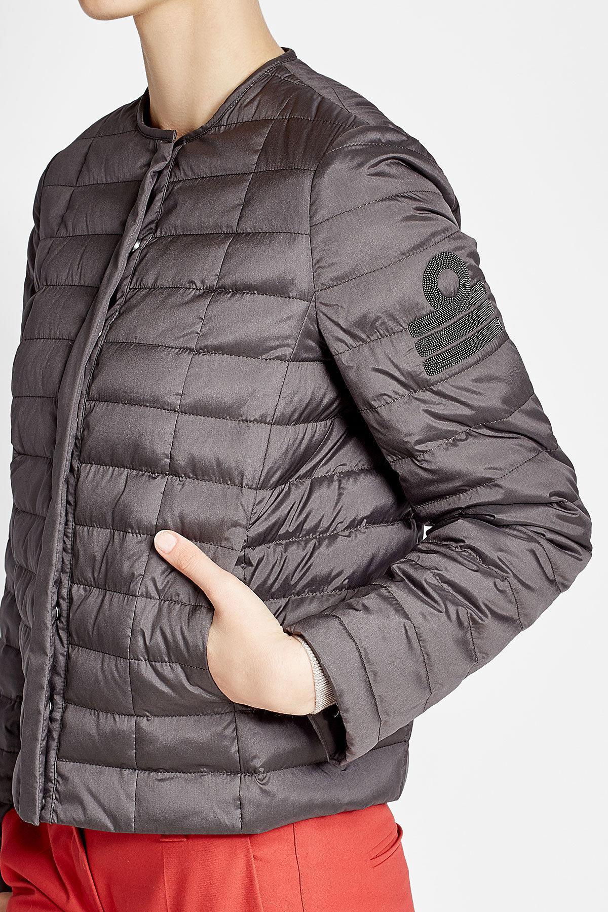 c7b40ced5 Brunello Cucinelli Quilted Silk Jacket - Lyst