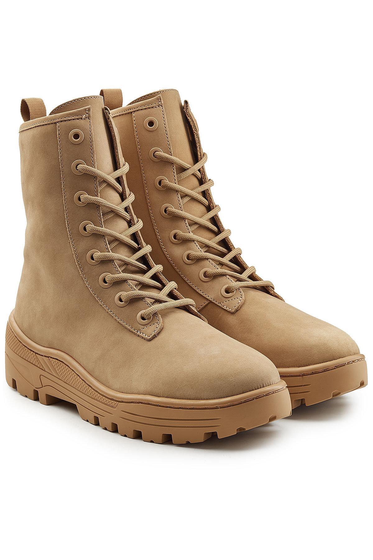 Giuseppe Zanotti Taupe Nubuck Military Boots