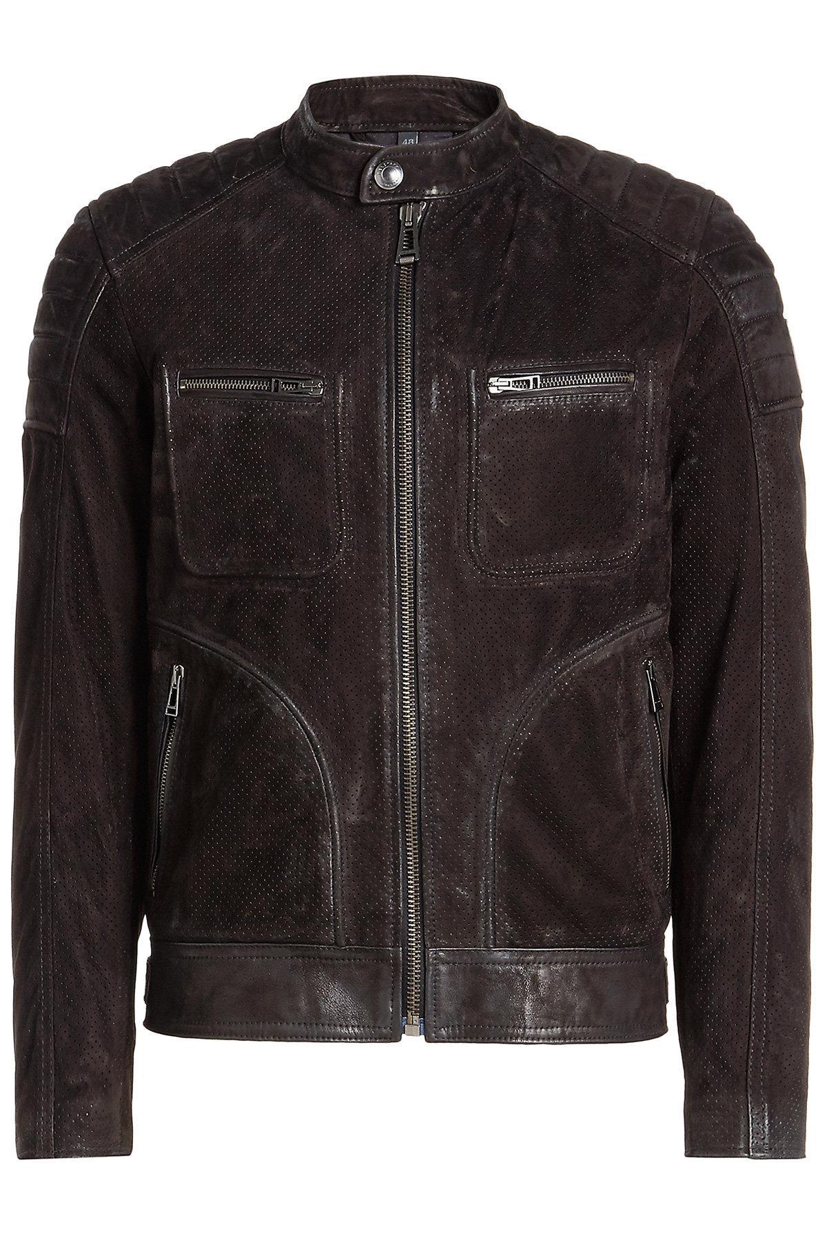 lyst belstaff weybridge suede jacket in black for men. Black Bedroom Furniture Sets. Home Design Ideas