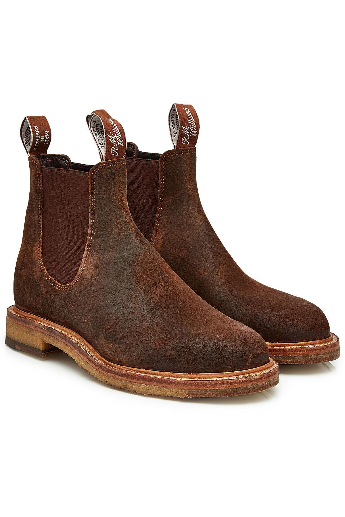 Lyst - R.M. Williams Gilchrist Suede Boots in Brown for Men