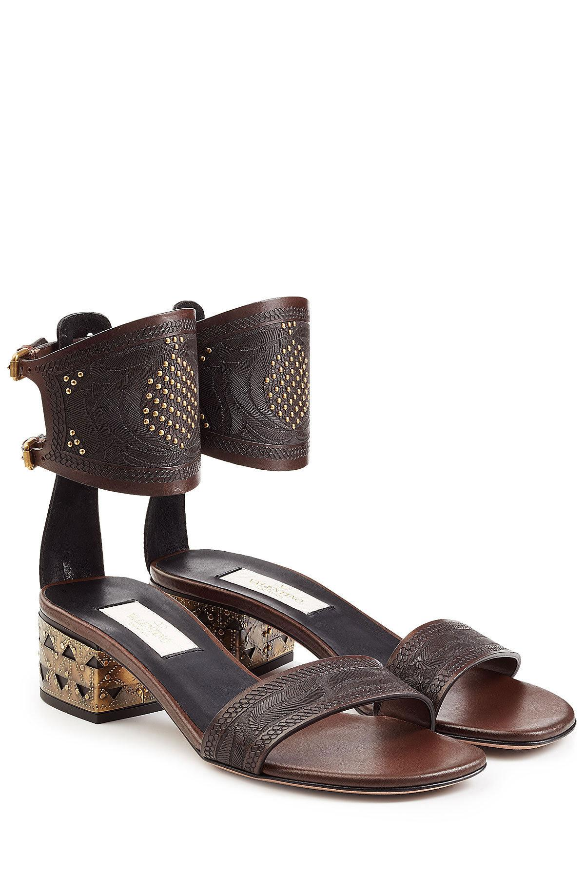 best wholesale cheap price Valentino Embossed Embellished Sandals discount manchester great sale TbrBDuS6