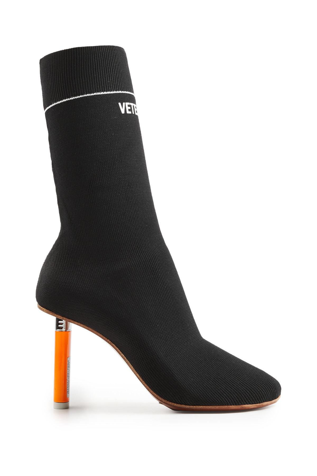 Lyst Vetements Sock Ankle Boots In Black