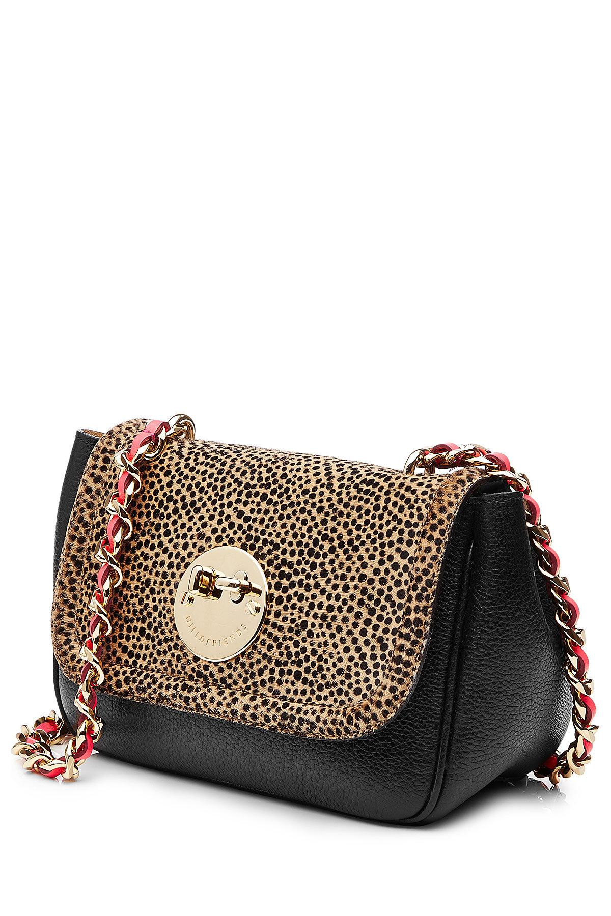 a1d9203b18d2 Lyst - Hill & Friends Happy Chain Leather And Calf Hair Shoulder Bag