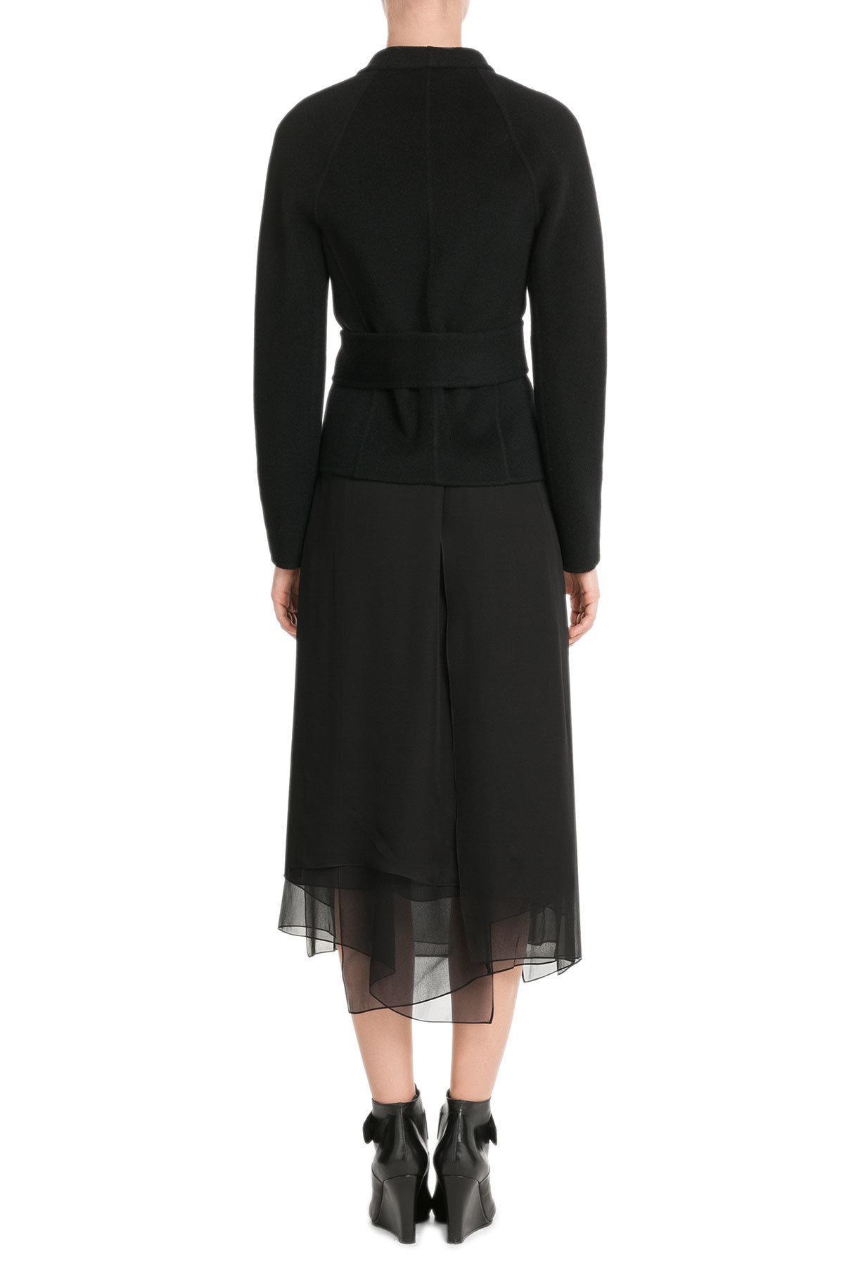 lyst donna karan cashmere jacket in black. Black Bedroom Furniture Sets. Home Design Ideas