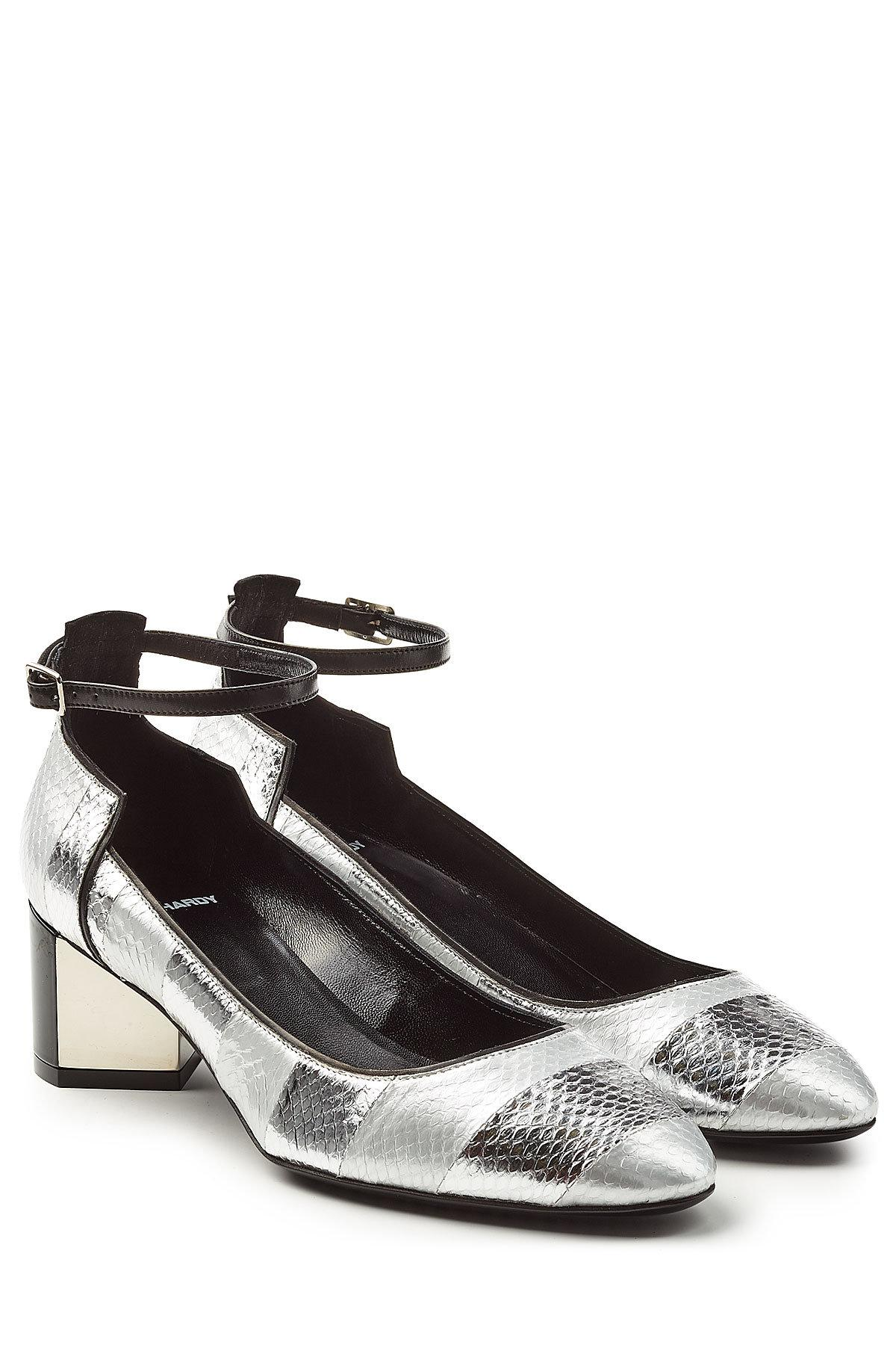 ec819477799 Lyst - Pierre Hardy Leather And Snakeskin Mary-janes