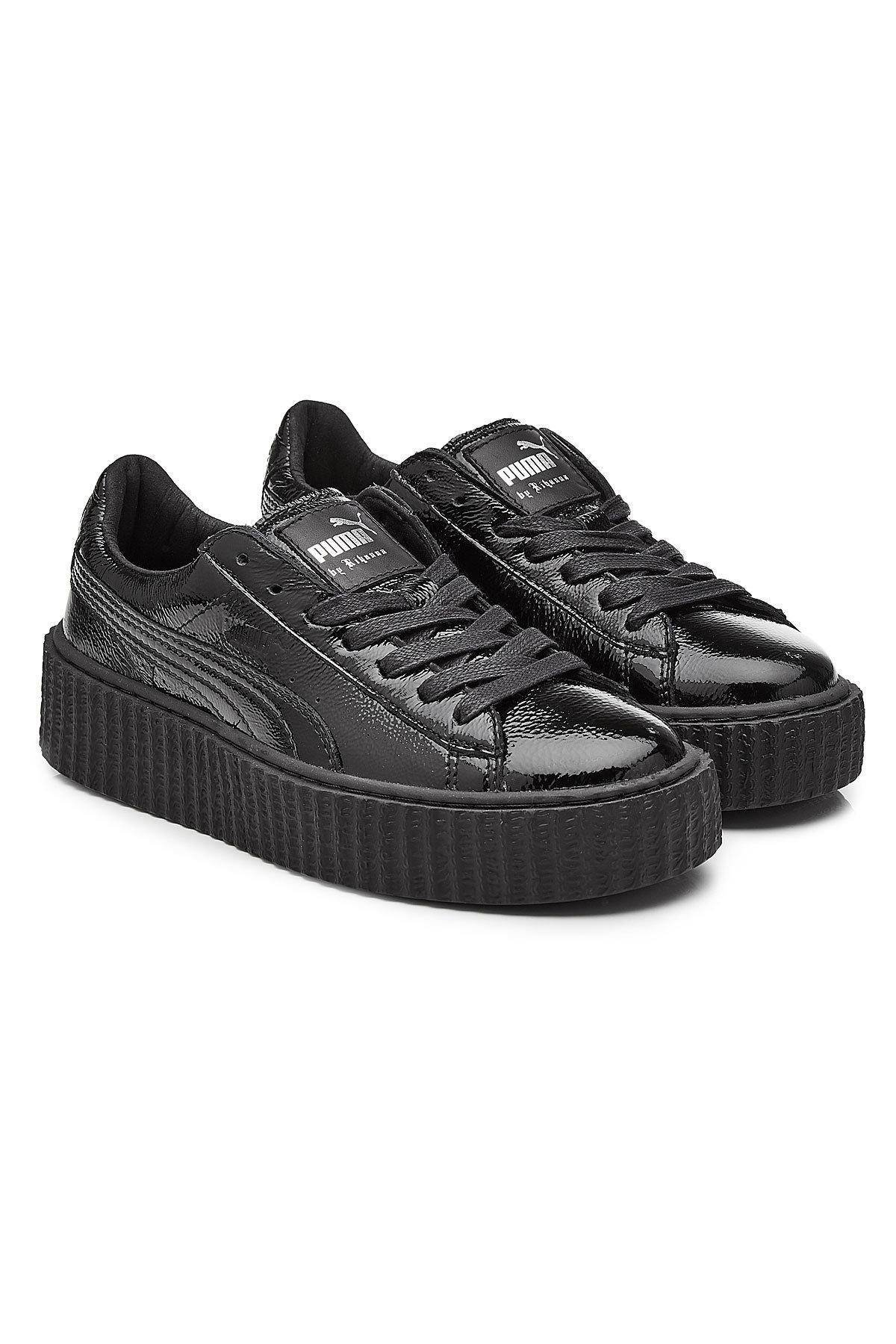 8fb22a4313d447 Lyst - PUMA Patent Leather Creeper Sneakers in Black