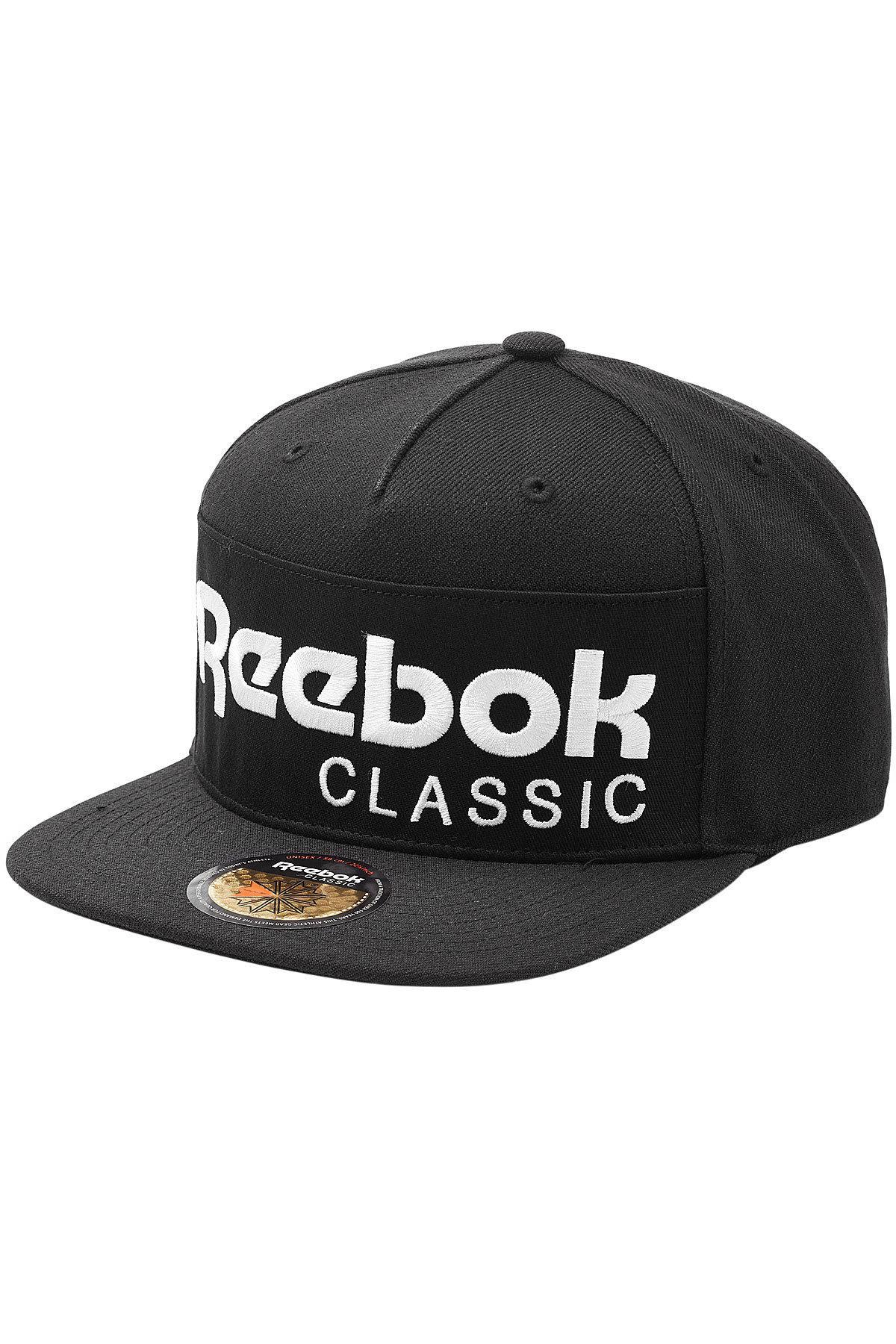 8fb2492877d Reebok Printed Baseball Cap in Black for Men - Lyst