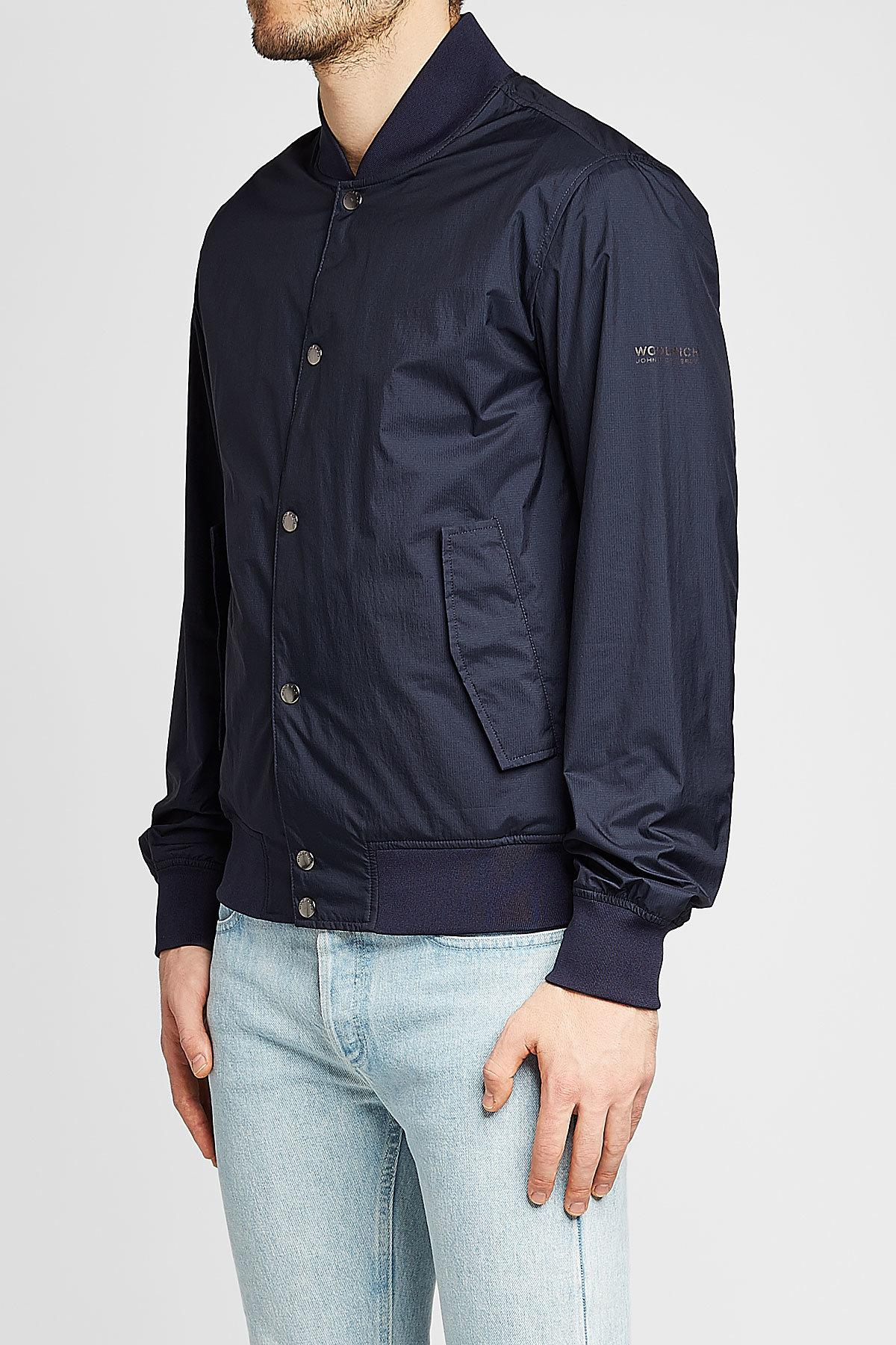 68a4833ee Woolrich Blue Wallaby Bomber Jacket for men