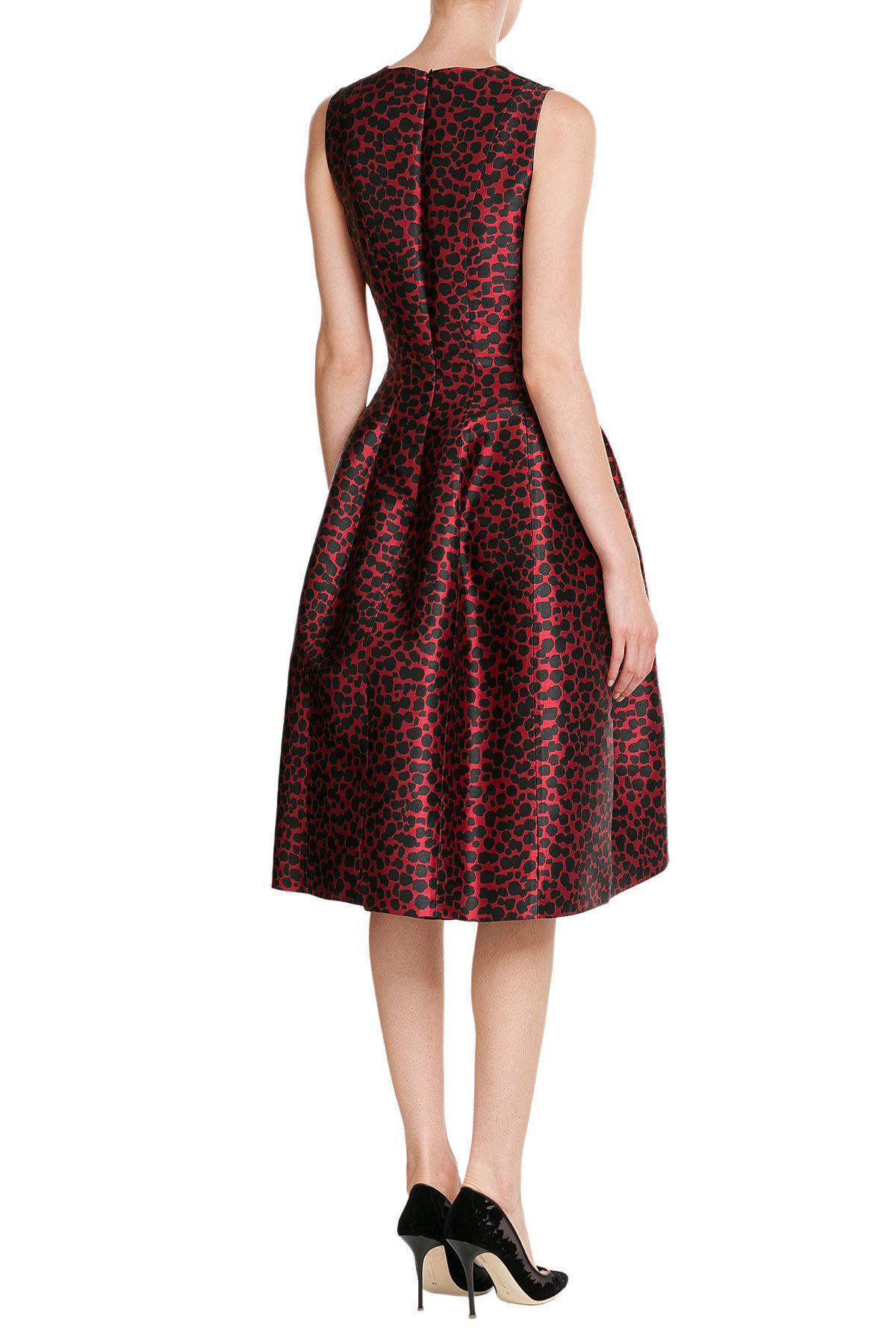 Lyst Michael Kors Printed Jacquard Dress in Red