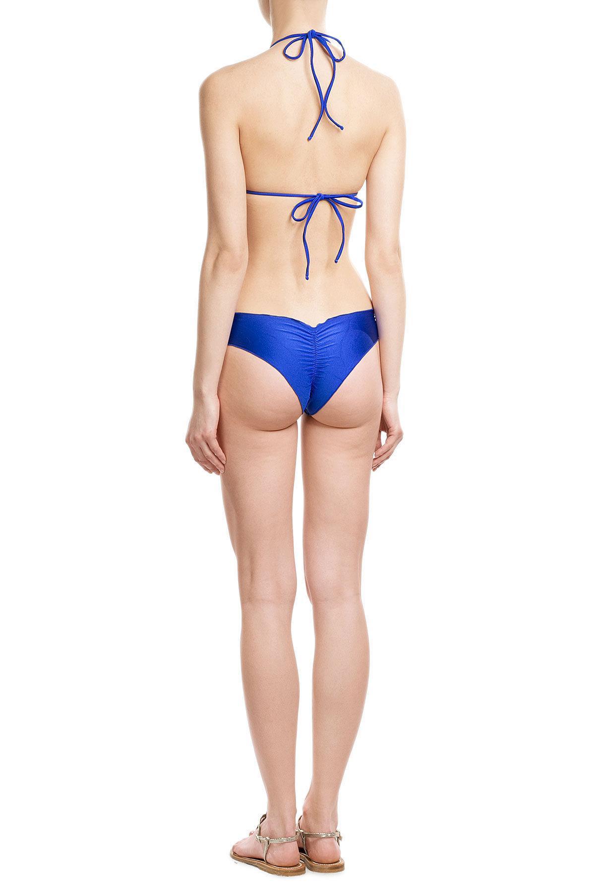 Luli fama Cosita Buena Wavey Bikini Bottoms in Black
