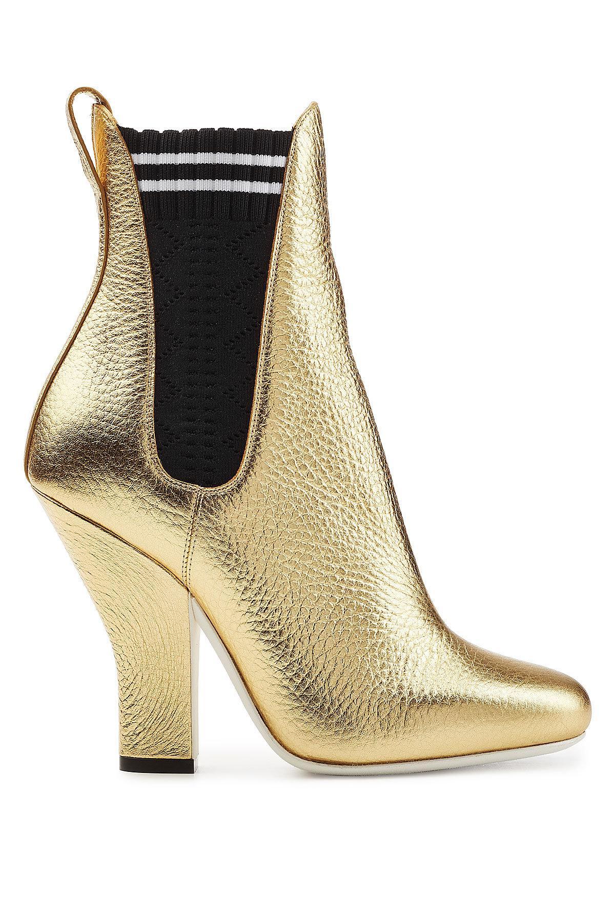 metallic ankle boots Fendi kPJPHYqNiZ