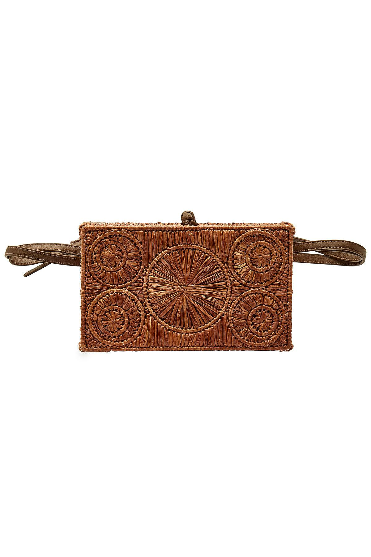 1dc11e01a313 Sophie Anderson Raffia Belt Bag With Leather in Brown - Lyst