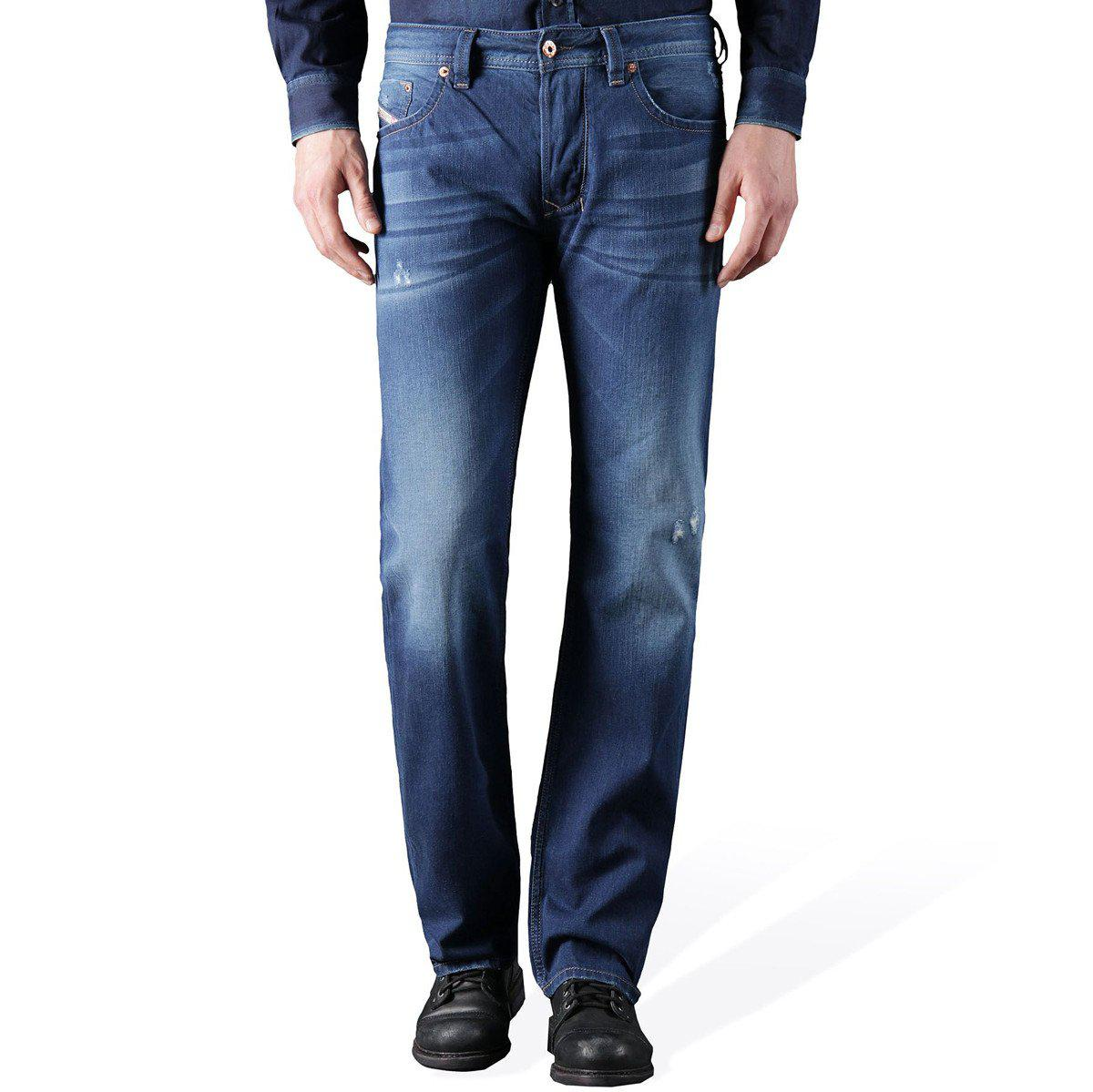 19ac290a DIESEL Larkee 0842m Regular Straight Fit Jeans in Blue for Men - Lyst