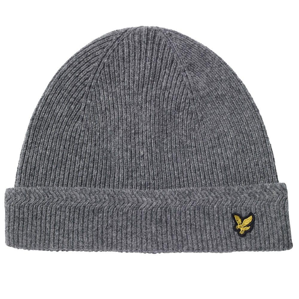 038463d27 Men's Gray Racked Rib Beanie Hat