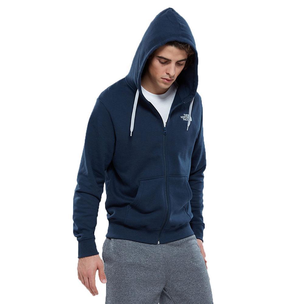 ff9e3d078 Blue Mens Open Gate Full Zip Hoodie Urban Navy/ Grey