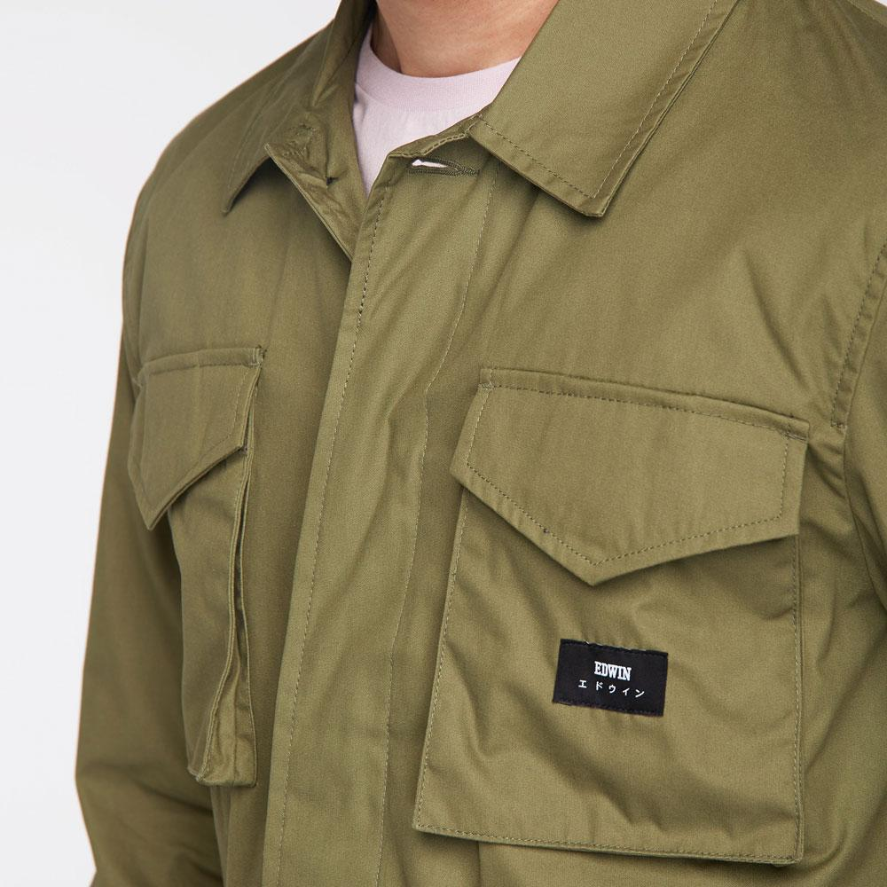 Edwin Denim Military Green Corporal Jacket for Men