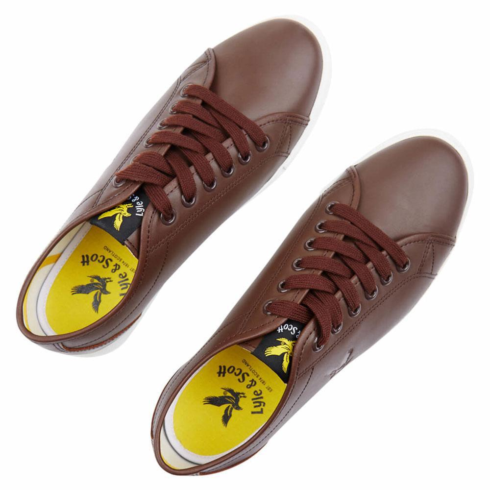 lyle and scott leather trainers