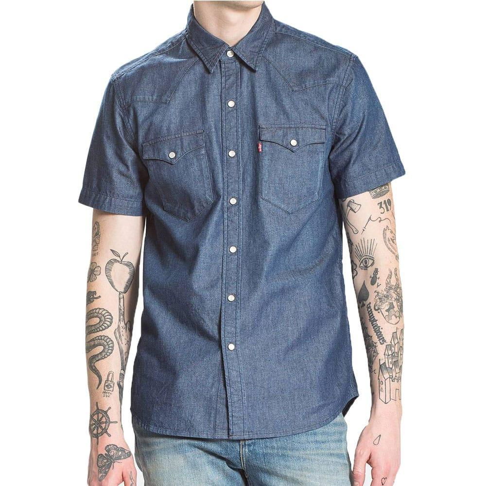 adb7aeb9846 Levi s Levi s Classic Western Short Sleeved Denim Shirt in Blue for ...