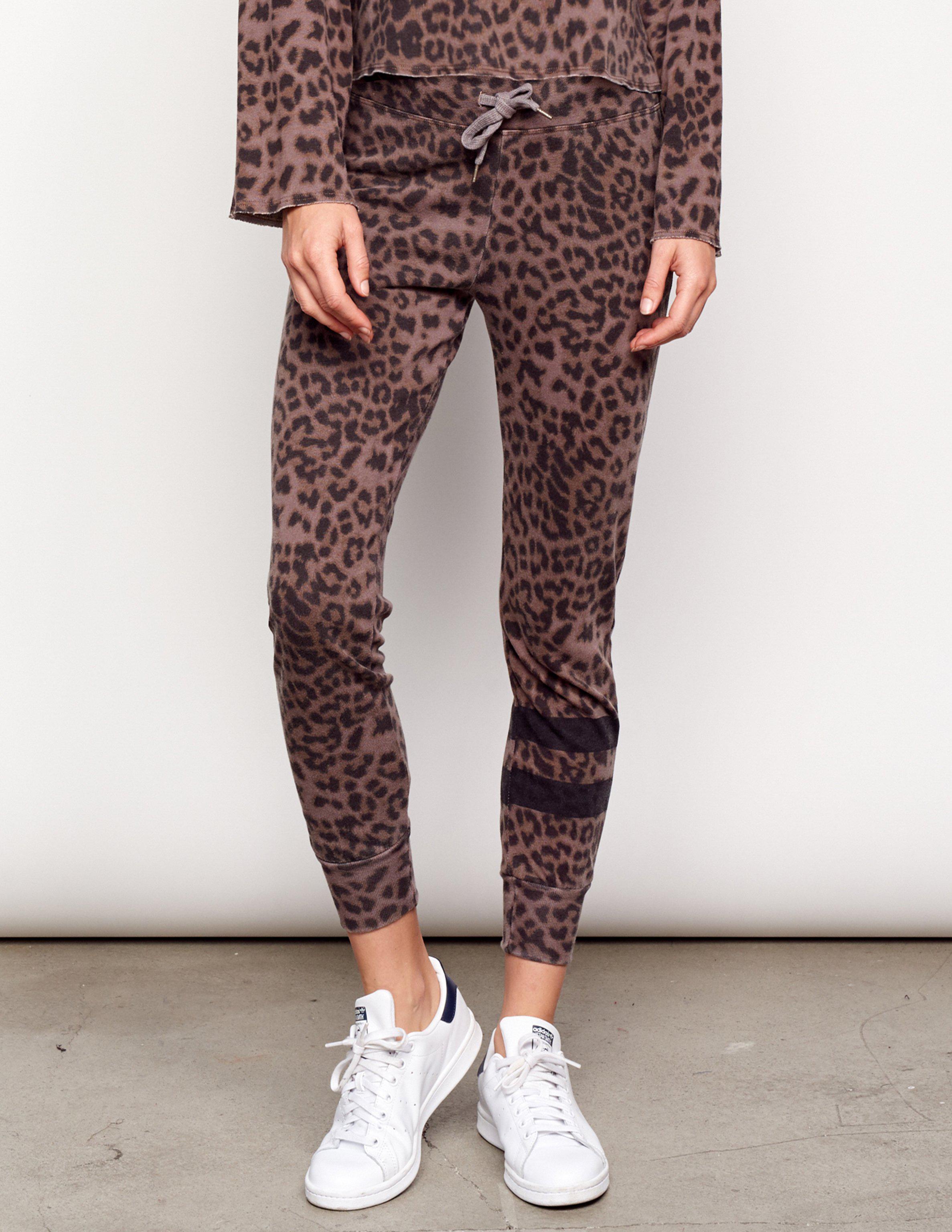 b919eda6feed Lyst - Sundry Leopard Stripes Jogger Pant