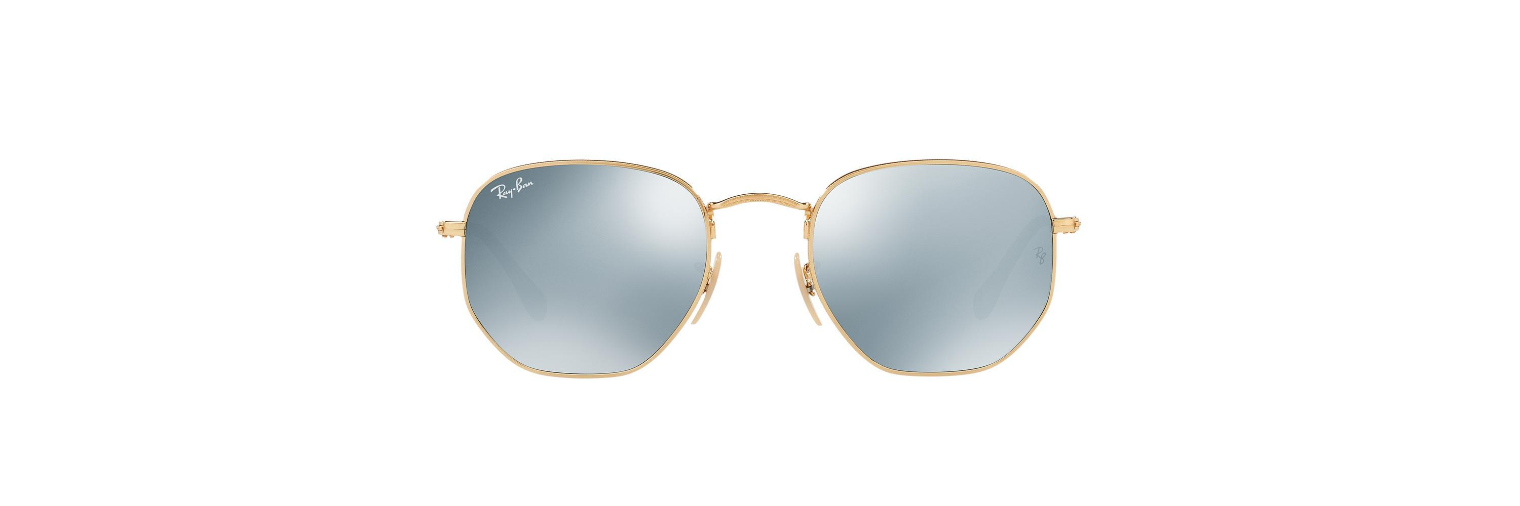 7229dfc8e5f Ray-Ban. Men s Metallic Rb3548n 51 Hexagonal Flat Lens Mirror Collection.   178 From Sunglass Hut