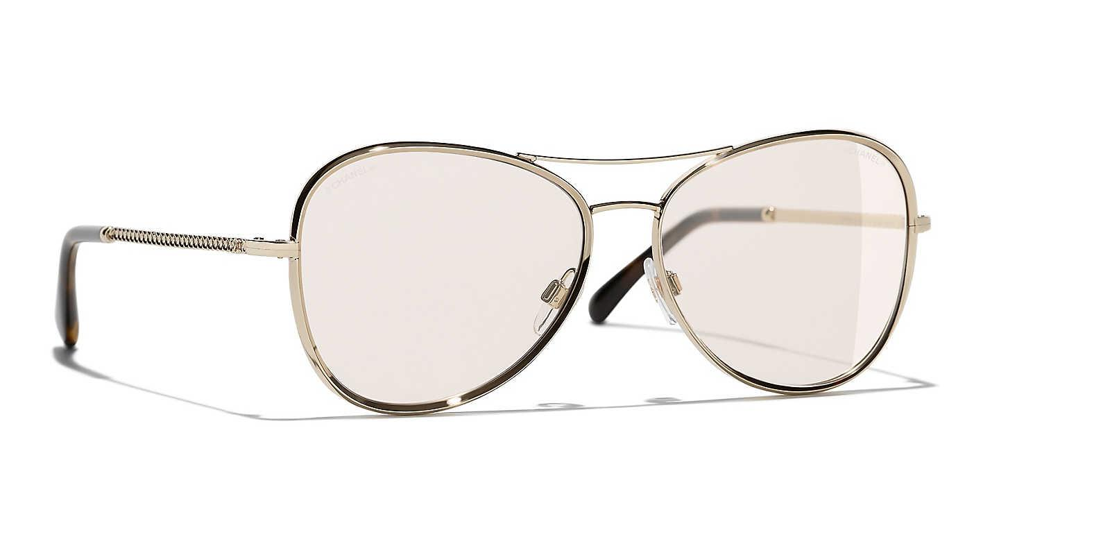 c70fd153b1ca Chanel Sunglass Pilot Sunglasses in Brown - Lyst