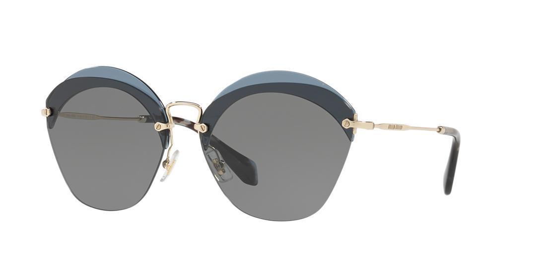 Miu Miu Mu 53ss Oval Sunglasses in Grey (Grey)