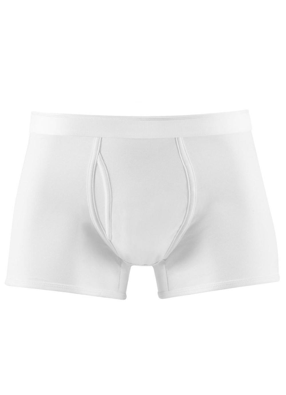 5621c7f98d7b Lyst - Sunspel Men's Superfine Cotton Trunks In White in White for ...