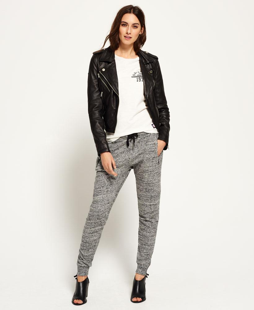 superdry luxe fashion joggers in gray lyst. Black Bedroom Furniture Sets. Home Design Ideas